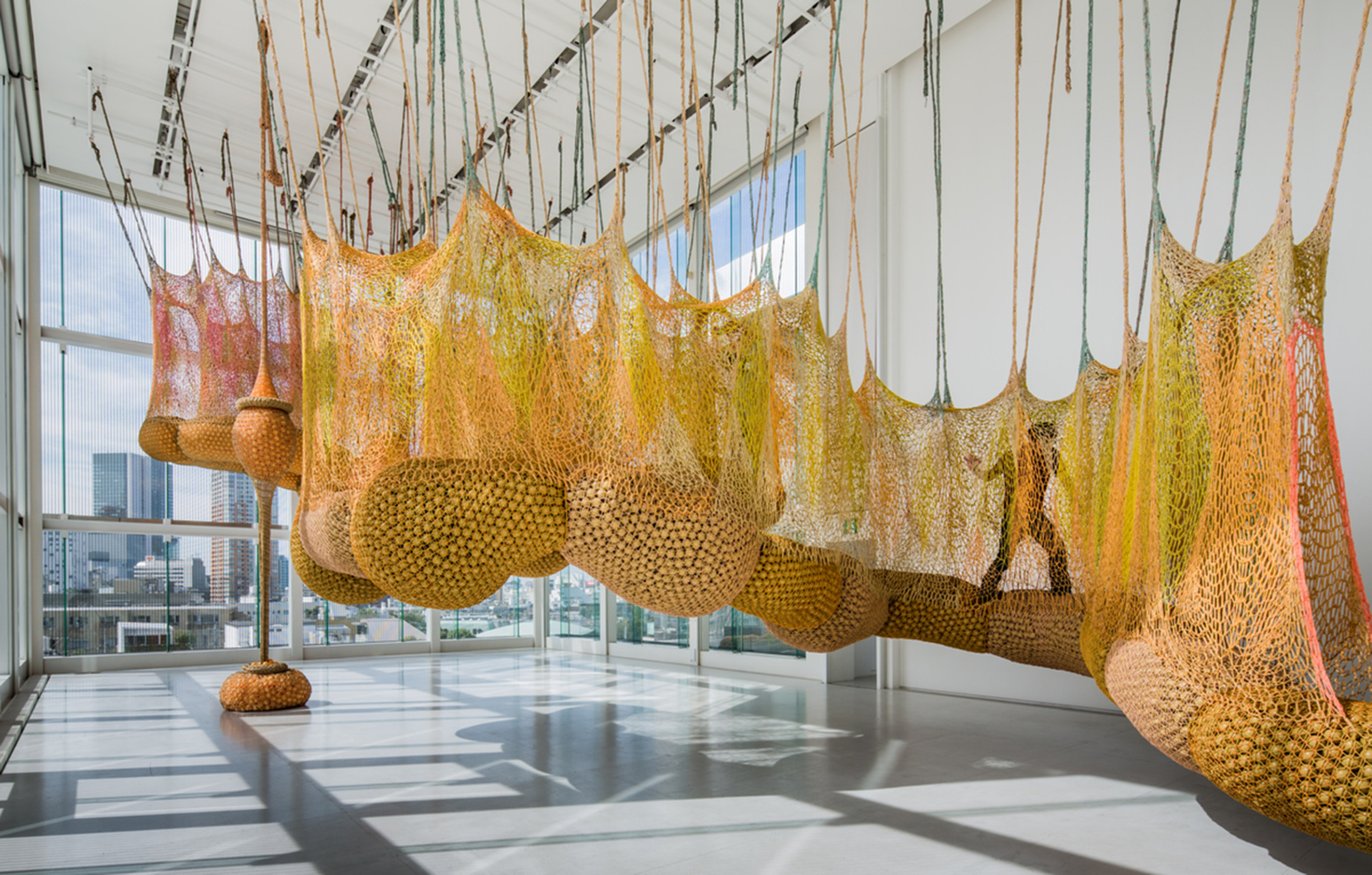 <span class=&#34;link fancybox-details-link&#34;><a href=&#34;/artists/37-ernesto-neto/works/15108/&#34;>View Detail Page</a></span><div class=&#34;artist&#34;><strong>ERNESTO NETO</strong></div> <div class=&#34;title&#34;><em>Life is a Body we are Part of</em>, 2012</div> <div class=&#34;medium&#34;>polypropylene + polyester string and plastic balls</div> <div class=&#34;dimensions&#34;>780 x 786 x 1486 cm</div>