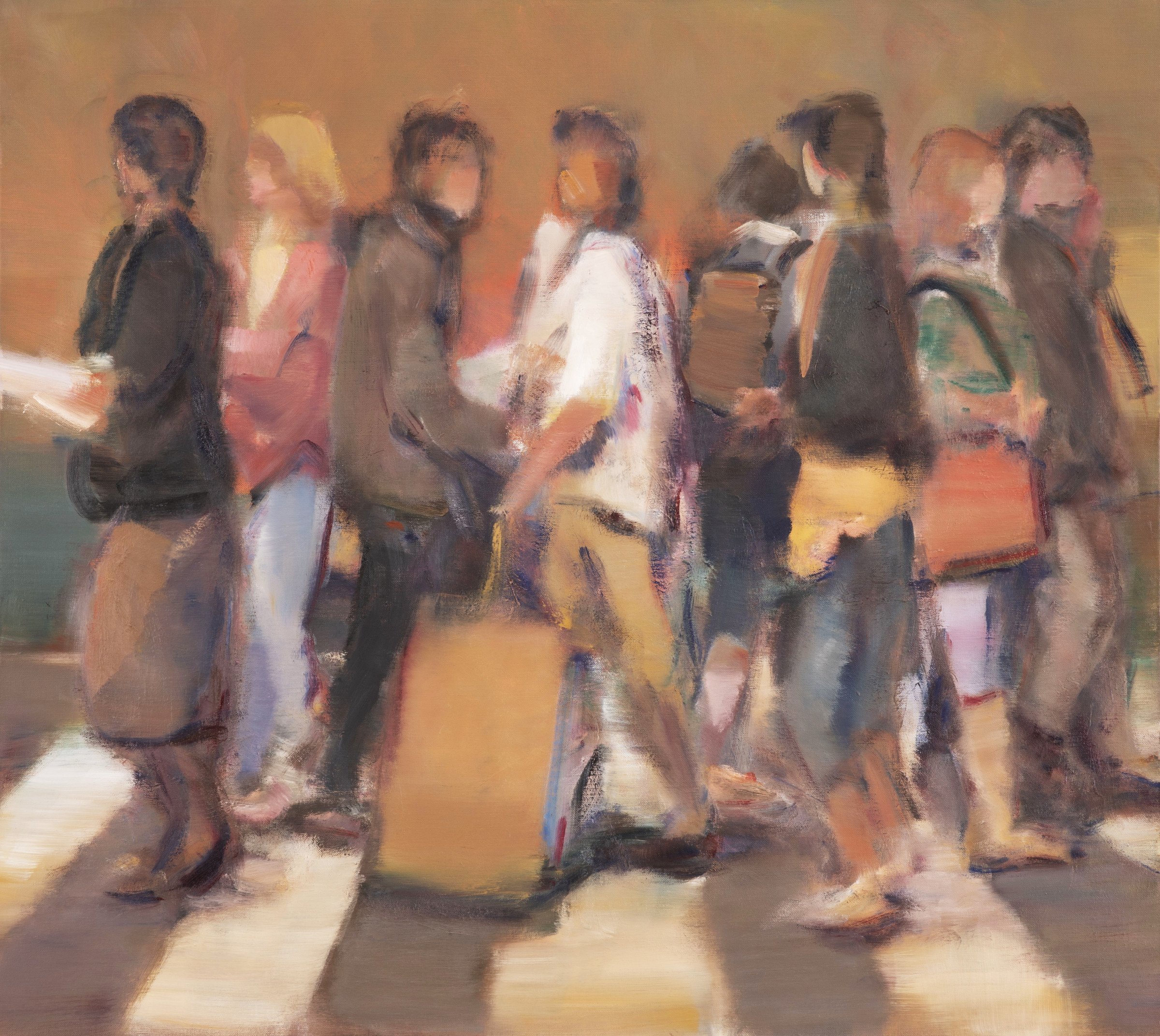 "<span class=""link fancybox-details-link""><a href=""/artists/59-simon-nicholas/works/506-simon-nicholas-crosswalk-iii/"">View Detail Page</a></span><div class=""artist""><strong>Simon Nicholas</strong></div> <div class=""title""><em>Crosswalk III</em></div> <div class=""medium"">Oil on Linen</div> <div class=""dimensions"">33.5 x 37.5 inches SOLD</div>"