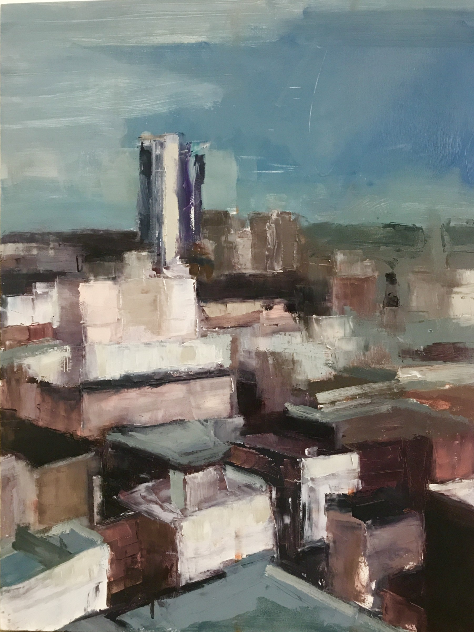 "<span class=""link fancybox-details-link""><a href=""/artists/56-hadas-tal/works/267-hadas-tal-soma-rooftops-2018/"">View Detail Page</a></span><div class=""artist""><strong>Hadas Tal</strong></div> <div class=""title""><em>Soma Rooftops </em>, 2018</div> <div class=""medium"">Oil on Wood Panel</div> <div class=""dimensions"">16 x 12 inches </div>"