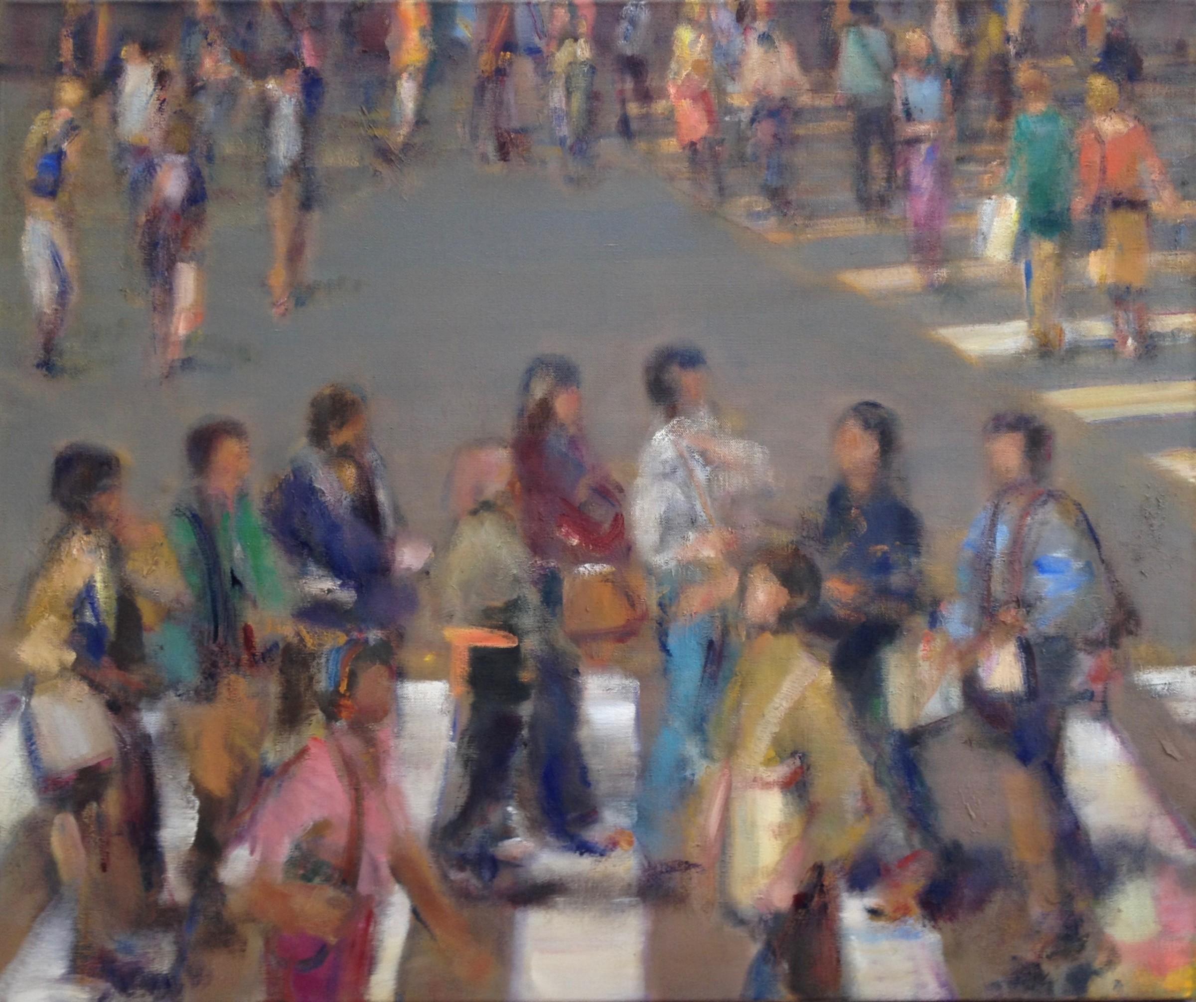 """<span class=""""link fancybox-details-link""""><a href=""""/artists/59-simon-nicholas/works/507-simon-nicholas-crosswalk-iv/"""">View Detail Page</a></span><div class=""""artist""""><strong>Simon Nicholas</strong></div> <div class=""""title""""><em>Crosswalk IV</em></div> <div class=""""medium"""">Oil on Linen</div> <div class=""""dimensions"""">29.5 x 35.5 inches</div>"""