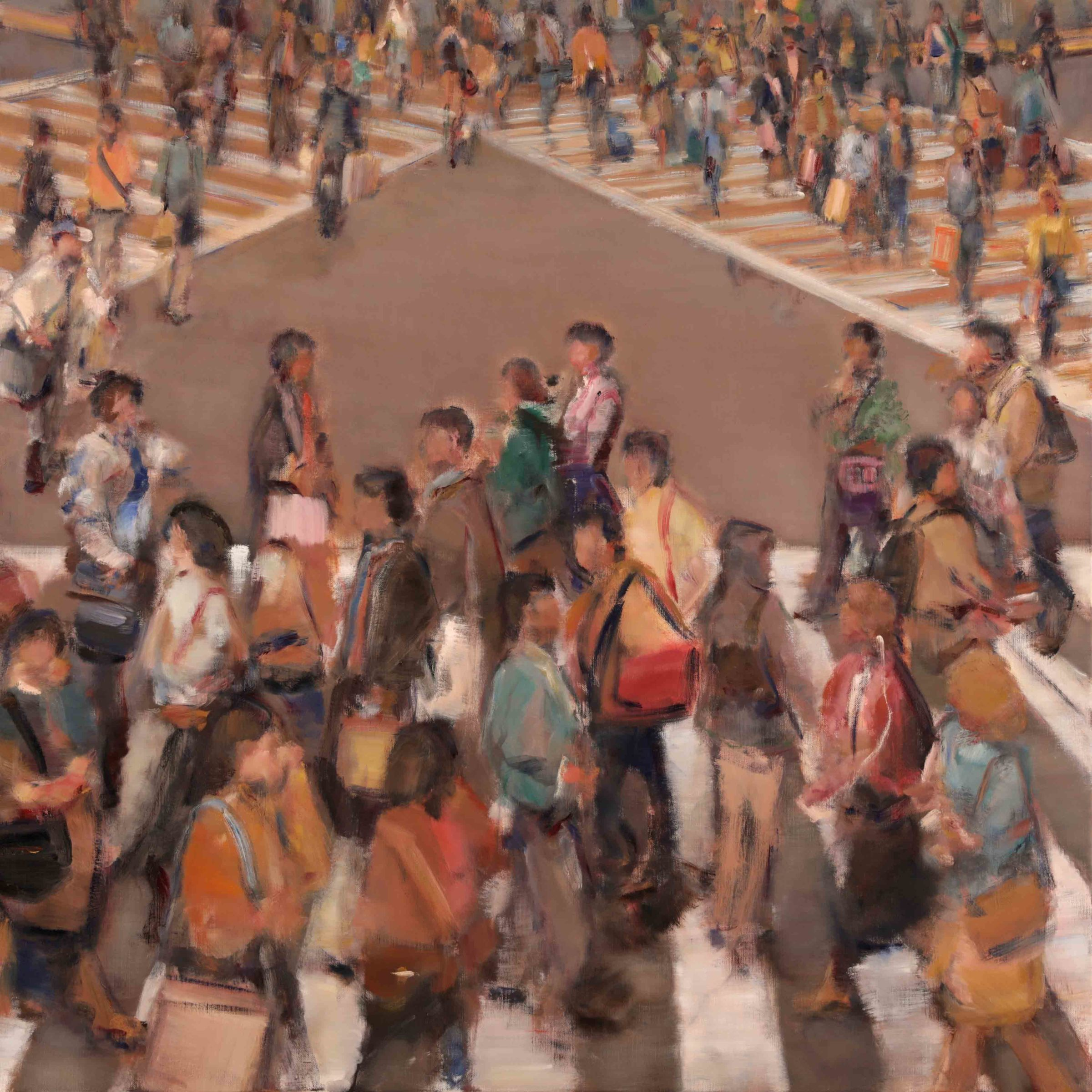 "<span class=""link fancybox-details-link""><a href=""/artists/59-simon-nicholas/works/508-simon-nicholas-crosswalk-v-2019/"">View Detail Page</a></span><div class=""artist""><strong>Simon Nicholas</strong></div> <div class=""title""><em>Crosswalk V</em>, 2019</div> <div class=""medium"">Oil on Linen</div> <div class=""dimensions"">47 x 47 inches<br /> SOLD</div>"