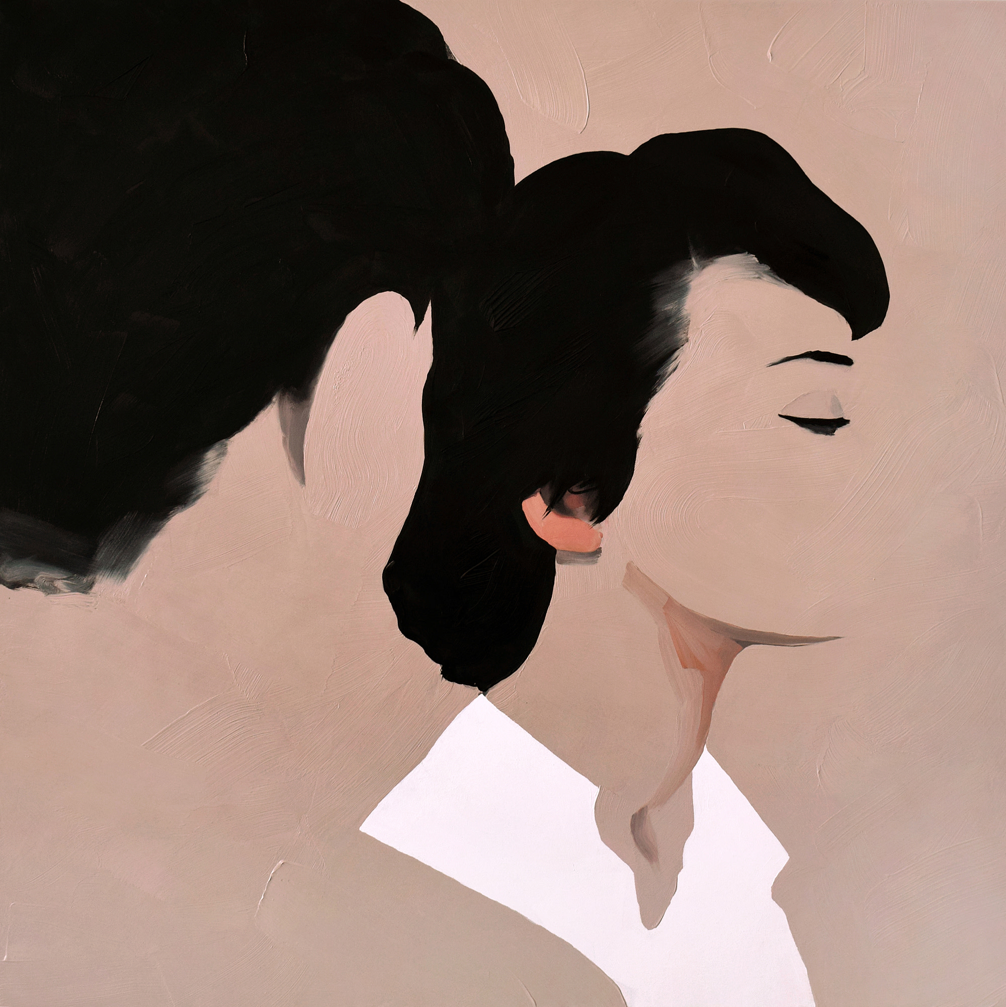 "<span class=""link fancybox-details-link""><a href=""/artists/54-jarek-puczel/works/335-jarek-puczel-lovers/"">View Detail Page</a></span><div class=""artist""><strong>Jarek Puczel</strong></div> <div class=""title""><em>Lovers</em></div> <div class=""medium"">Oil on Canvas</div> <div class=""dimensions"">36 x 36 inches </div>"