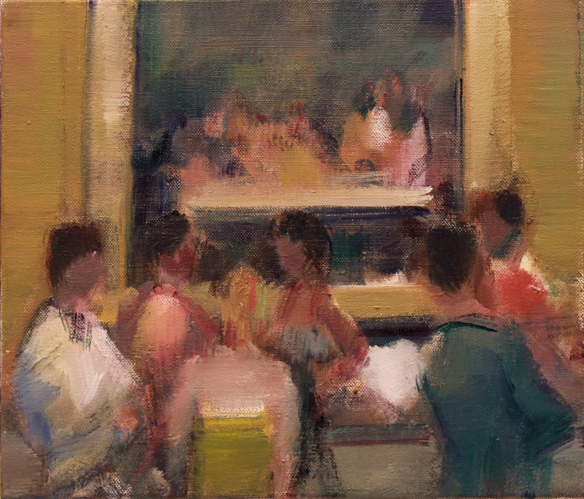 "<span class=""link fancybox-details-link""><a href=""/artists/59-simon-nicholas/works/601-simon-nicholas-gallery/"">View Detail Page</a></span><div class=""artist""><strong>Simon Nicholas</strong></div> <div class=""title""><em>Gallery</em></div> <div class=""medium"">Oil on Linen</div> <div class=""dimensions"">11 x 13.8 inches<br /> SOLD</div>"