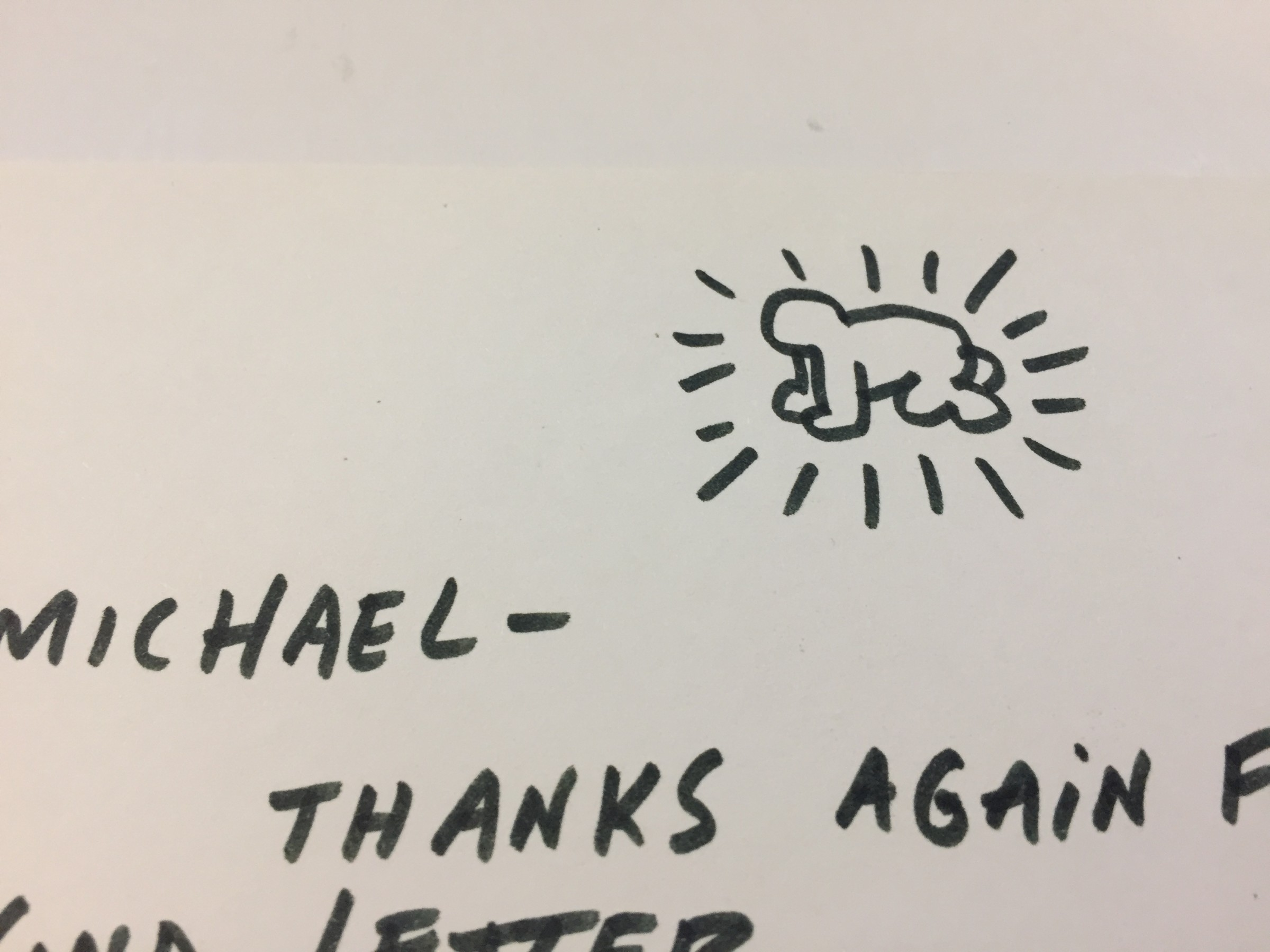 Letter with Andy Mouse Keith Haring Letter