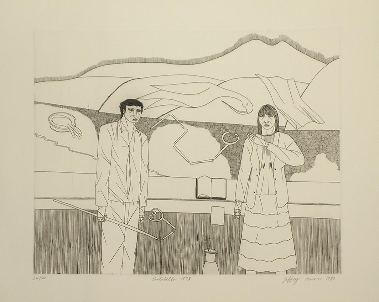 <span class=&#34;link fancybox-details-link&#34;><a href=&#34;/artists/76-jeffrey-harris/works/6585-jeffrey-harris-portobello-1978-1980/&#34;>View Detail Page</a></span><div class=&#34;artist&#34;><strong>Jeffrey Harris</strong></div> <div class=&#34;title&#34;><em>Portobello 1978</em>, 1980</div> <div class=&#34;medium&#34;>Etching</div> <div class=&#34;dimensions&#34;>9.4 x 12.6 x 19.3 in<br />24 x 32 x 49 cm</div> <div class=&#34;edition_details&#34;>#24/50</div>