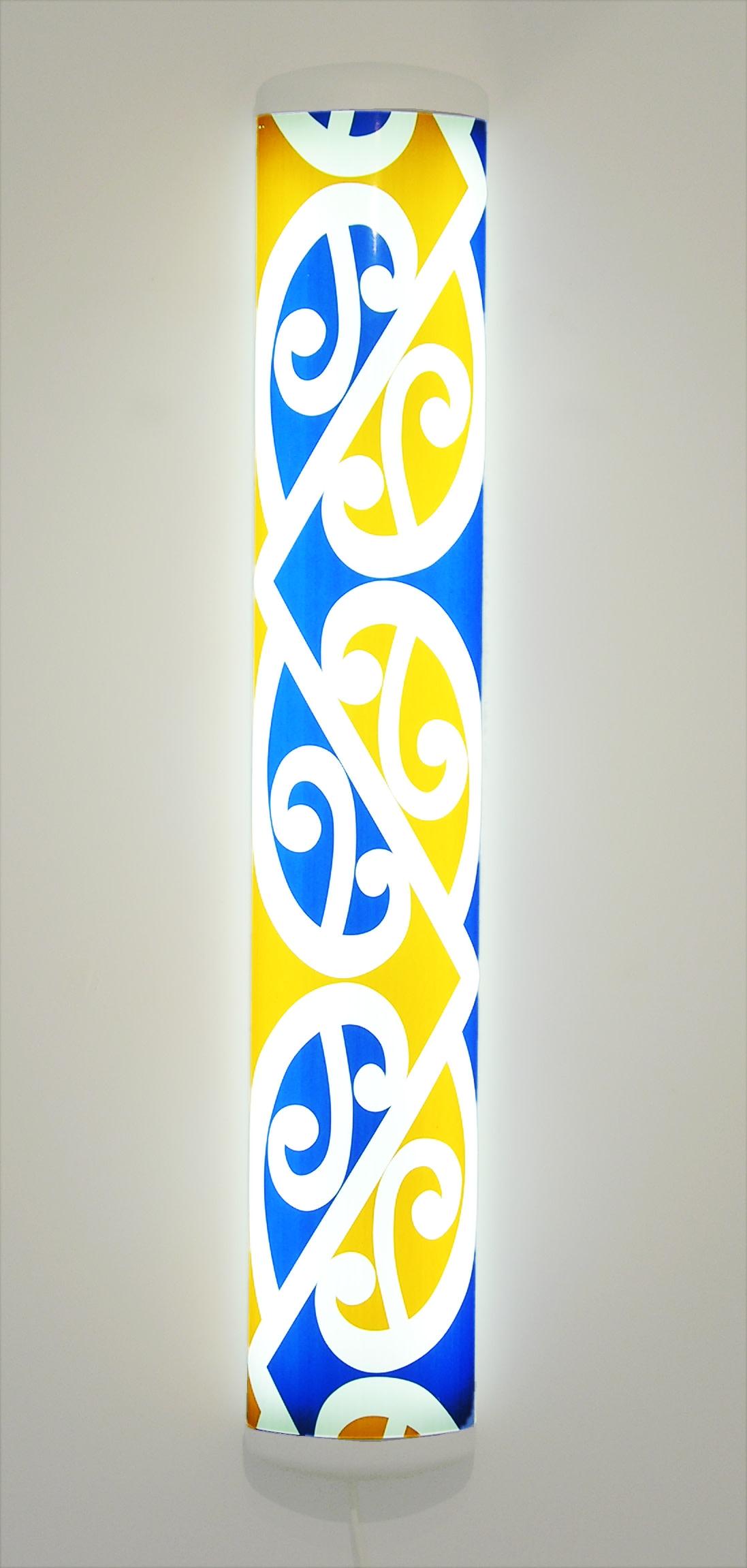<span class=&#34;link fancybox-details-link&#34;><a href=&#34;/artists/81-michael-parekowhai/works/3062-michael-parekowhai-the-bosom-of-abraham-2001/&#34;>View Detail Page</a></span><div class=&#34;artist&#34;><strong>Michael Parekowhai</strong></div> <div class=&#34;title&#34;><em>The Bosom of Abraham</em>, 2001</div> <div class=&#34;medium&#34;>Screenprinted vinyl on fluorescent light fitting</div> <div class=&#34;dimensions&#34;>51.2 x 8.3 x 2 in<br />130 x 21 x 5 cm</div>