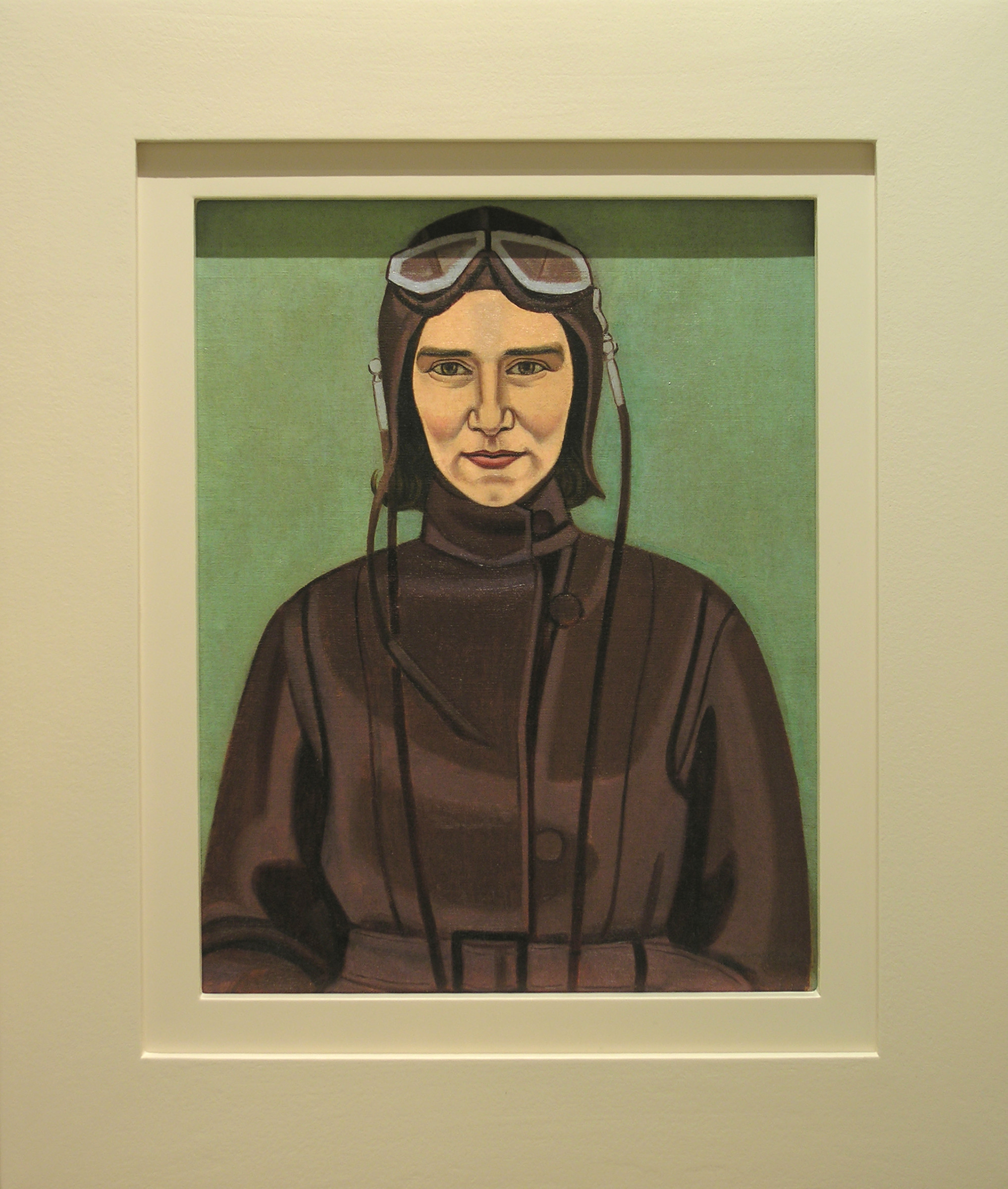 <span class=&#34;link fancybox-details-link&#34;><a href=&#34;/artists/70-rita-angus/works/2466-rita-angus-the-aviatrix-1933/&#34;>View Detail Page</a></span><div class=&#34;artist&#34;><strong>Rita Angus</strong></div> <div class=&#34;title&#34;><em>The Aviatrix</em>, 1933</div> <div class=&#34;signed_and_dated&#34;>Signed and dated lower right</div> <div class=&#34;medium&#34;>Oil on canvas</div> <div class=&#34;dimensions&#34;>20.9 x 17.7 in<br />53 x 45 cm</div>