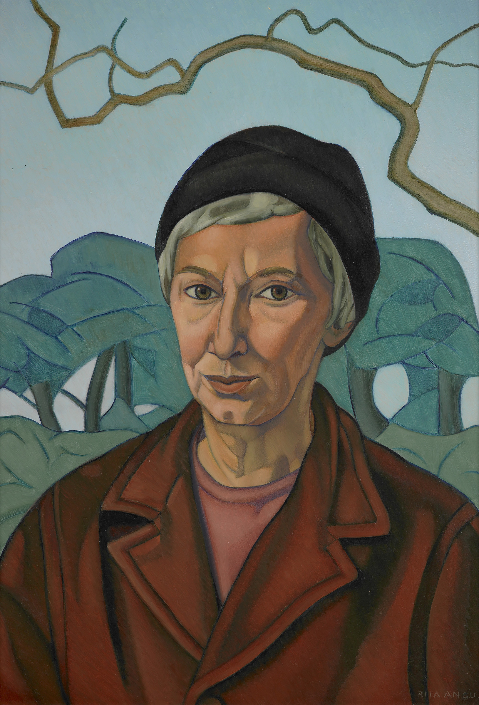 <span class=&#34;link fancybox-details-link&#34;><a href=&#34;/artists/70-rita-angus/works/7232-rita-angus-self-portrait-1968/&#34;>View Detail Page</a></span><div class=&#34;artist&#34;><strong>Rita Angus</strong></div> <div class=&#34;title&#34;><em>Self Portrait</em>, 1968</div> <div class=&#34;medium&#34;>Oil on board</div> <div class=&#34;dimensions&#34;>22.7 x 15.9 in<br />57.7 x 40.5 cm</div>