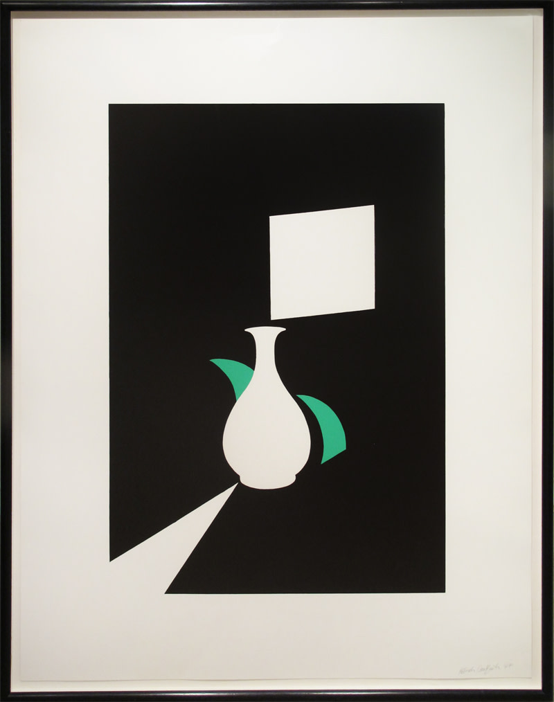 <span class=&#34;link fancybox-details-link&#34;><a href=&#34;/artists/31-patrick-caulfield/works/354/&#34;>View Detail Page</a></span><div class=&#34;artist&#34;><strong>Patrick Caulfield</strong></div> 1936-2005 <div class=&#34;title&#34;><em>Lung Ch'uan Ware and Window</em></div> <div class=&#34;signed_and_dated&#34;>From the White Ware Prints Suite, 1990<br /> signed <br /> printers proof<br /> 1990</div> <div class=&#34;medium&#34;>screenprint in colours</div> <div class=&#34;dimensions&#34;>107 x 81.5 cms (42 x 32 ins)<br /> framed: 113 x 88 cms (44.5 x 34.5 ins) </div>