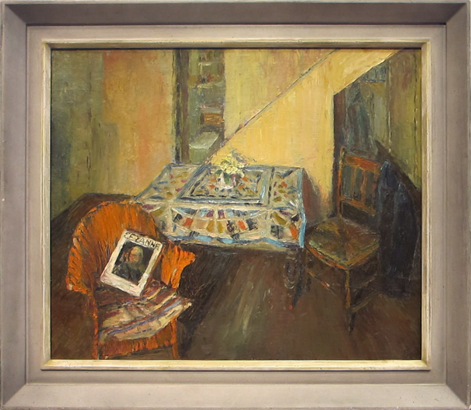 <span class=&#34;link fancybox-details-link&#34;><a href=&#34;/artists/46-terry-frost/works/505/&#34;>View Detail Page</a></span><div class=&#34;artist&#34;><strong>Terry Frost</strong></div> 1915-2003 <div class=&#34;title&#34;><em>Interior at Quay Street St.Ives</em></div> <div class=&#34;signed_and_dated&#34;>signed verso<br /> painted circa 1948</div> <div class=&#34;medium&#34;>oil on board</div> <div class=&#34;dimensions&#34;>51 x 61 cms (20 x 24 ins)<br /> framed size: 53 x 63 cms (21 x 25 ins)</div>
