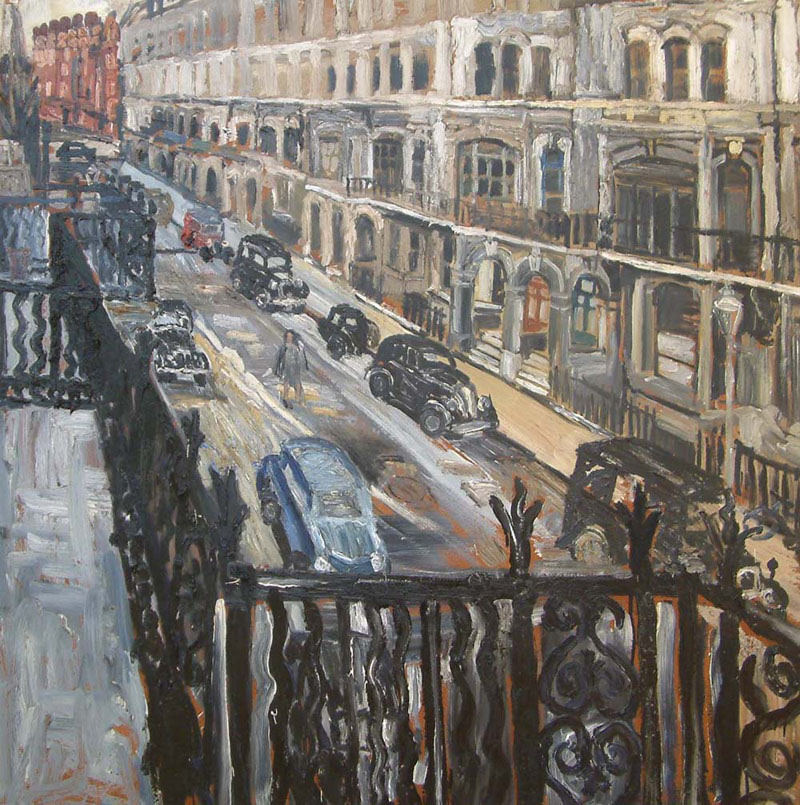 <span class=&#34;link fancybox-details-link&#34;><a href=&#34;/artists/28-john-bratby/works/671/&#34;>View Detail Page</a></span><div class=&#34;artist&#34;><strong>John Bratby</strong></div> 1928- 1992 <div class=&#34;title&#34;><em>Elm Park Gardens 1955</em></div> <div class=&#34;signed_and_dated&#34;>title inscribed verso<br /> 1955</div> <div class=&#34;medium&#34;>oil on board</div> <div class=&#34;dimensions&#34;>121 x 121 cms (47.5 x 47.5 ins)</div>