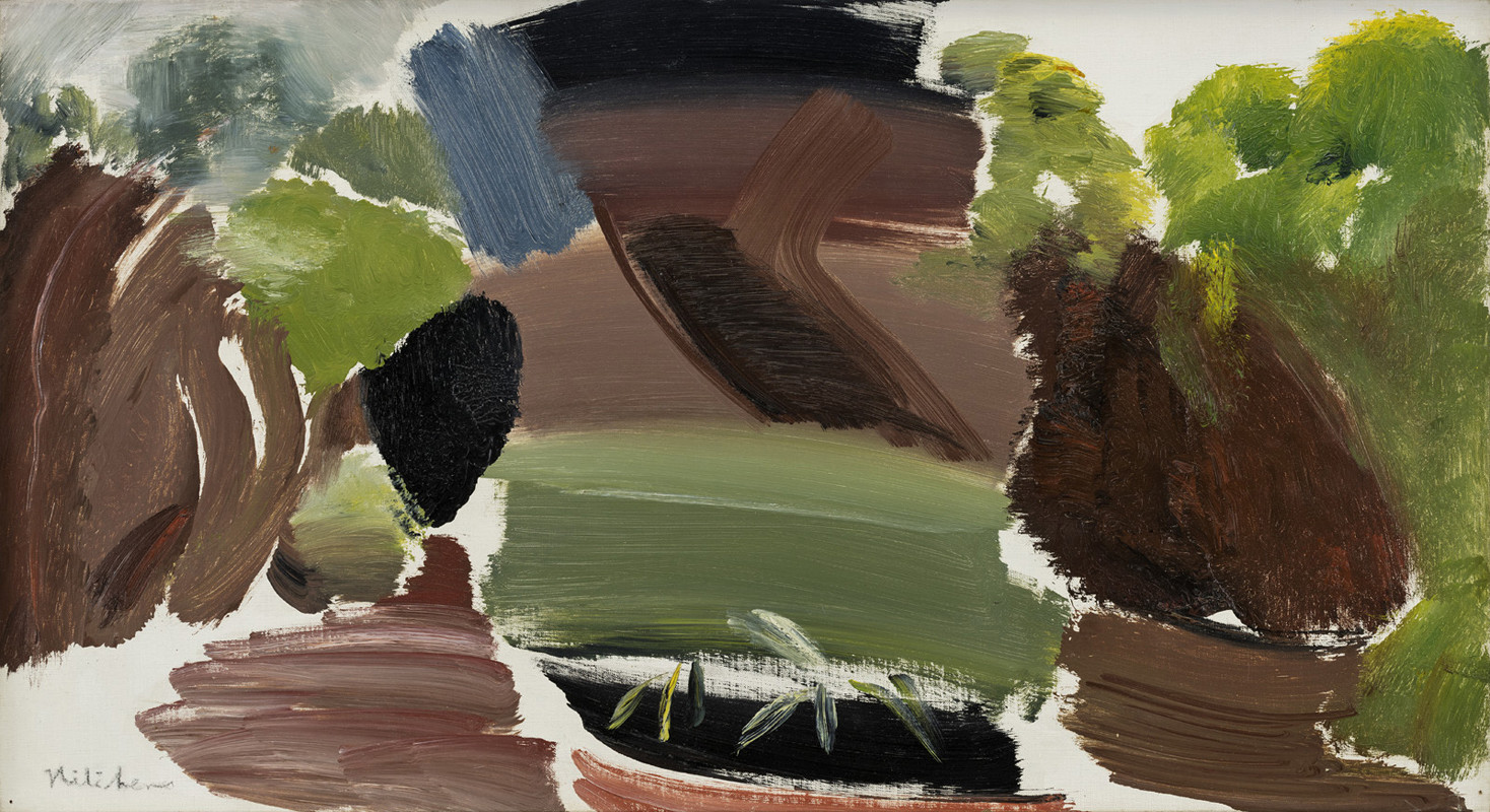 "<span class=""link fancybox-details-link""><a href=""/artists/52-ivon-hitchens/works/242/"">View Detail Page</a></span><div class=""artist""><strong>Ivon Hitchens</strong></div> 1893-1979 <div class=""title""><em>Landscape</em></div> <div class=""signed_and_dated"">signed<br /> painted circa 1954</div> <div class=""medium"">oil on canvas</div> <div class=""dimensions"">40.5 x 76 cms (16 x 30 ins)<br /> framed: 62 x 96.5 cms (24½ x 38 ins)</div>"