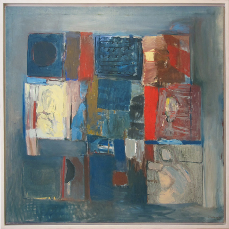 <span class=&#34;link fancybox-details-link&#34;><a href=&#34;/artists/90-henry-inlander/works/251/&#34;>View Detail Page</a></span><div class=&#34;artist&#34;><strong>Henry Inlander</strong></div> 1925-1983 <div class=&#34;title&#34;><em>Revelation No 9</em></div> <div class=&#34;signed_and_dated&#34;>signed<br /> painted in 1963</div> <div class=&#34;medium&#34;>oil on canvas</div> <div class=&#34;dimensions&#34;>152 x 152 cms (59.75 x 59.75 ins)<br /> framed: 159 x 159 cms (62.5 x 62.5 ins)</div>