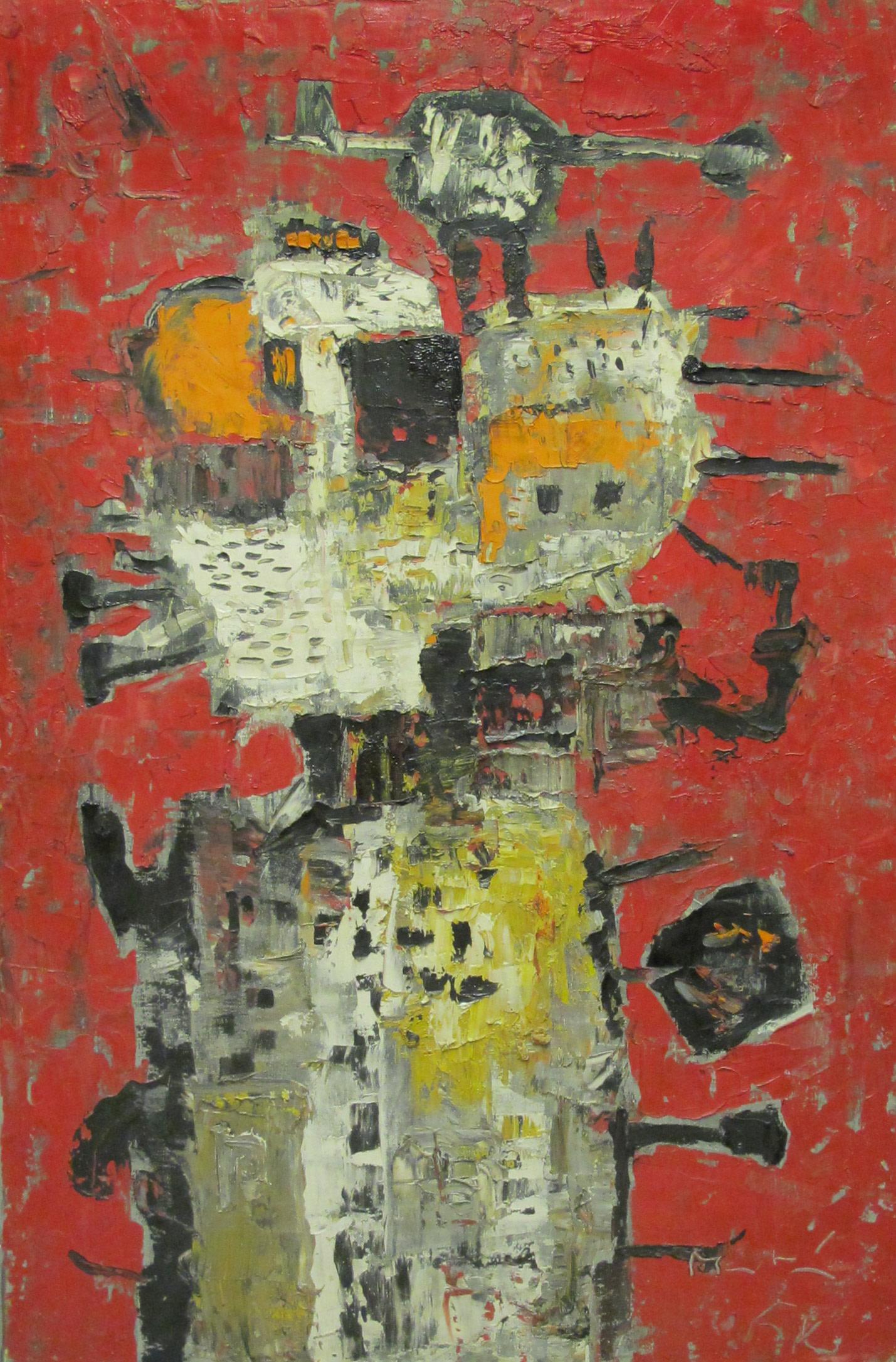 <span class=&#34;link fancybox-details-link&#34;><a href=&#34;/artists/26-martin-bradley/works/754/&#34;>View Detail Page</a></span><div class=&#34;artist&#34;><strong>Martin Bradley</strong></div> Born 1931 <div class=&#34;title&#34;><em>Mijne Vlaamsche Tante</em></div> <div class=&#34;signed_and_dated&#34;>signed and dated '54<br /> also signed, titled and dated verso</div> <div class=&#34;medium&#34;>oil on canvas</div> <div class=&#34;dimensions&#34;>91.5 x 61 cms (36 x 24 ins)</div>