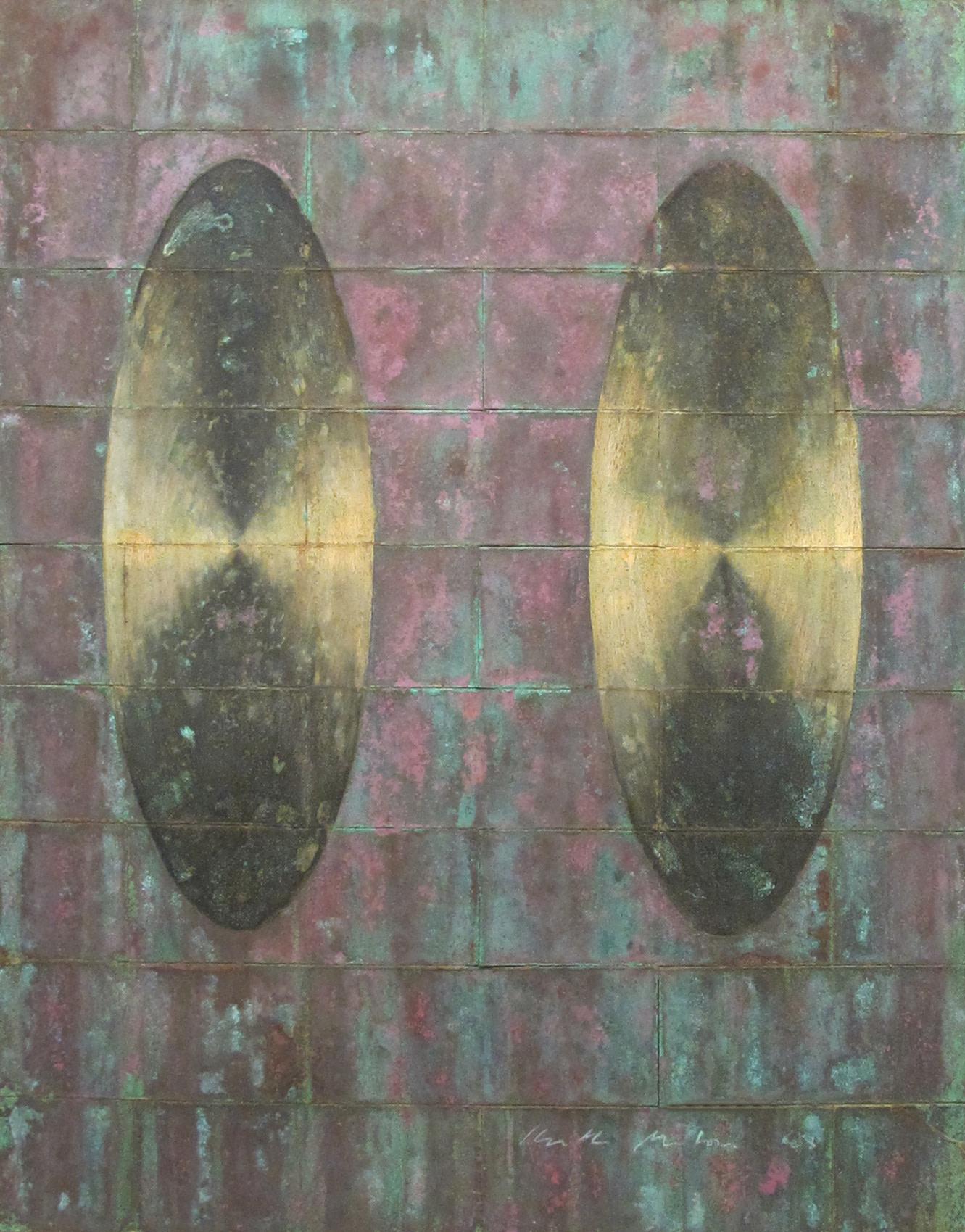 <span class=&#34;link fancybox-details-link&#34;><a href=&#34;/artists/59-keith-milow/works/803/&#34;>View Detail Page</a></span><div class=&#34;artist&#34;><strong>Keith Milow</strong></div> Born 1945 <div class=&#34;title&#34;><em>Drawing No. 88/26/D</em></div> <div class=&#34;signed_and_dated&#34;>signed and dated '88</div> <div class=&#34;medium&#34;>oil on copper</div> <div class=&#34;dimensions&#34;>45.5 x 35.5 cms (18 x 14 ins)</div>