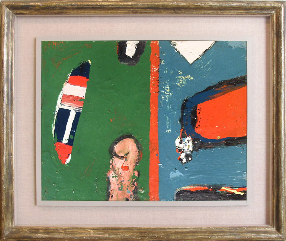 <span class=&#34;link fancybox-details-link&#34;><a href=&#34;/artists/38-alan-davie/works/129/&#34;>View Detail Page</a></span><div class=&#34;artist&#34;><strong>Alan Davie</strong></div> 1920-2014 <div class=&#34;title&#34;><em>Idea for a Fish</em></div> <div class=&#34;signed_and_dated&#34;>signed and dated 1959<br />titled verso</div> <div class=&#34;medium&#34;>oil on paper laid on board</div> <div class=&#34;dimensions&#34;>43 x 53 cms (17 x 21 ins)<br /> framed: 63.5 x 74 cms (25 x 29 ins) </div>