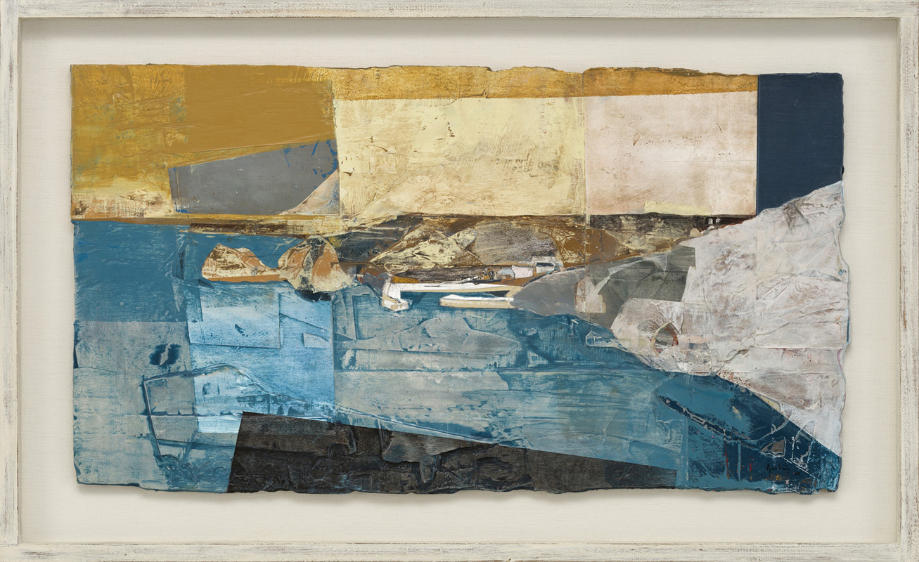 """<span class=""""link fancybox-details-link""""><a href=""""/artists/139-jeremy-gardiner/works/922/"""">View Detail Page</a></span><div class=""""artist""""><strong>Jeremy Gardiner</strong></div> Born 1957 <div class=""""title""""><em>Breakwater, Mullion Cove, Cornwall</em></div> <div class=""""signed_and_dated"""">signed and dated 2018<br /> titled verso</div> <div class=""""medium"""">acrylic and jesmonite on poplar panel<br /> </div> <div class=""""dimensions"""">40 x 73 cms (16 x 29 ins)<br /> framed: 53 x 85 cms (21 x 33½ ins)</div>"""