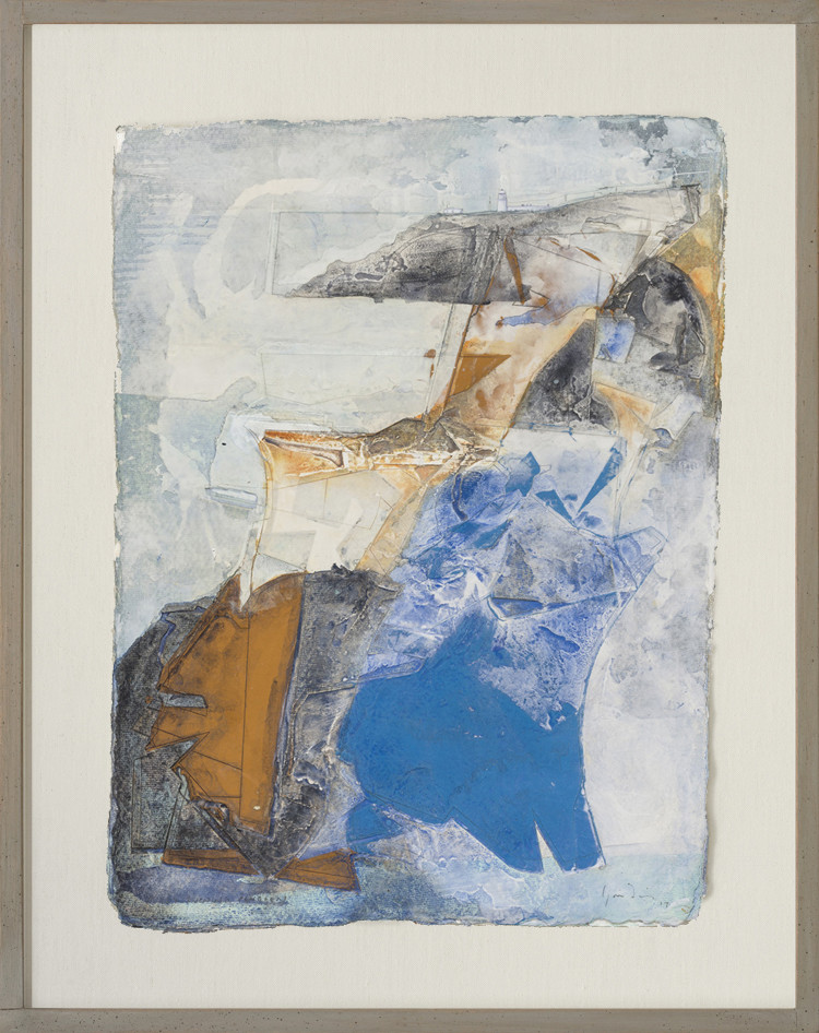 <span class=&#34;link fancybox-details-link&#34;><a href=&#34;/artists/47-jeremy-gardiner/works/588/&#34;>View Detail Page</a></span><div class=&#34;artist&#34;><strong>Jeremy Gardiner</strong></div> Born 1957 <div class=&#34;title&#34;><em>Misty Evening, Pendeen</em></div> <div class=&#34;signed_and_dated&#34;>signed, titled and dated 2017</div> <div class=&#34;medium&#34;>watercolour with jesmonite and acrylic on handmade paper</div> <div class=&#34;dimensions&#34;>30.5 x 43 cms (12 x 17 ins)<br /> framed: 45.5 x 58 cms (18 x 23 ins)</div>