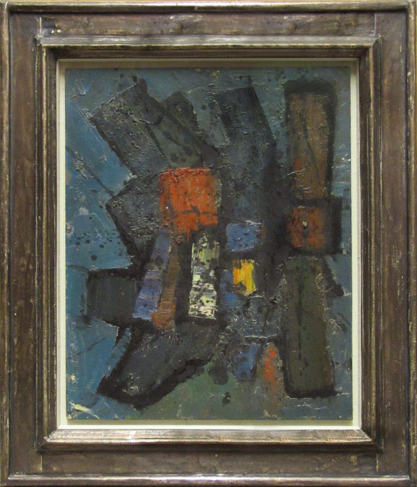 <span class=&#34;link fancybox-details-link&#34;><a href=&#34;/artists/66-frank-avray-wilson/works/14/&#34;>View Detail Page</a></span><div class=&#34;artist&#34;><strong>Frank Avray Wilson</strong></div> 1914-2009 <div class=&#34;title&#34;><em>Yellow Centre</em></div> <div class=&#34;signed_and_dated&#34;>signed verso</div> <div class=&#34;medium&#34;>oil on board painted circa 1959</div> <div class=&#34;dimensions&#34;>40.5 x 33 cms (16 x 13 ins)<br /> framed: 22 x 19 ins (56 x 48 cms)</div>