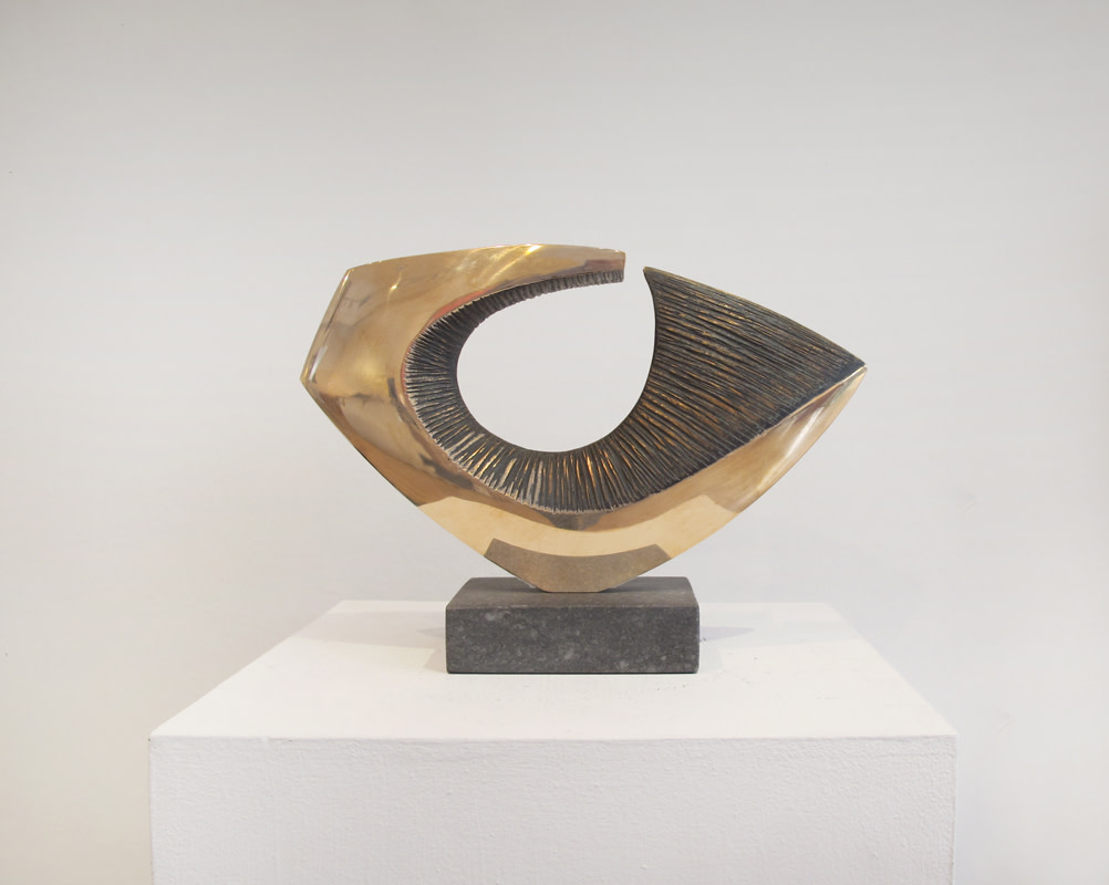 """<span class=""""link fancybox-details-link""""><a href=""""/artists/43-robert-fogell/works/1064/"""">View Detail Page</a></span>Robert Fogell  Born 1963 Seaform   stamped with artist's initials  number 3 from an edition of 5   cast in 2019   bronze on stone base   19 x 27 cms (7½ x 10½ ins)"""