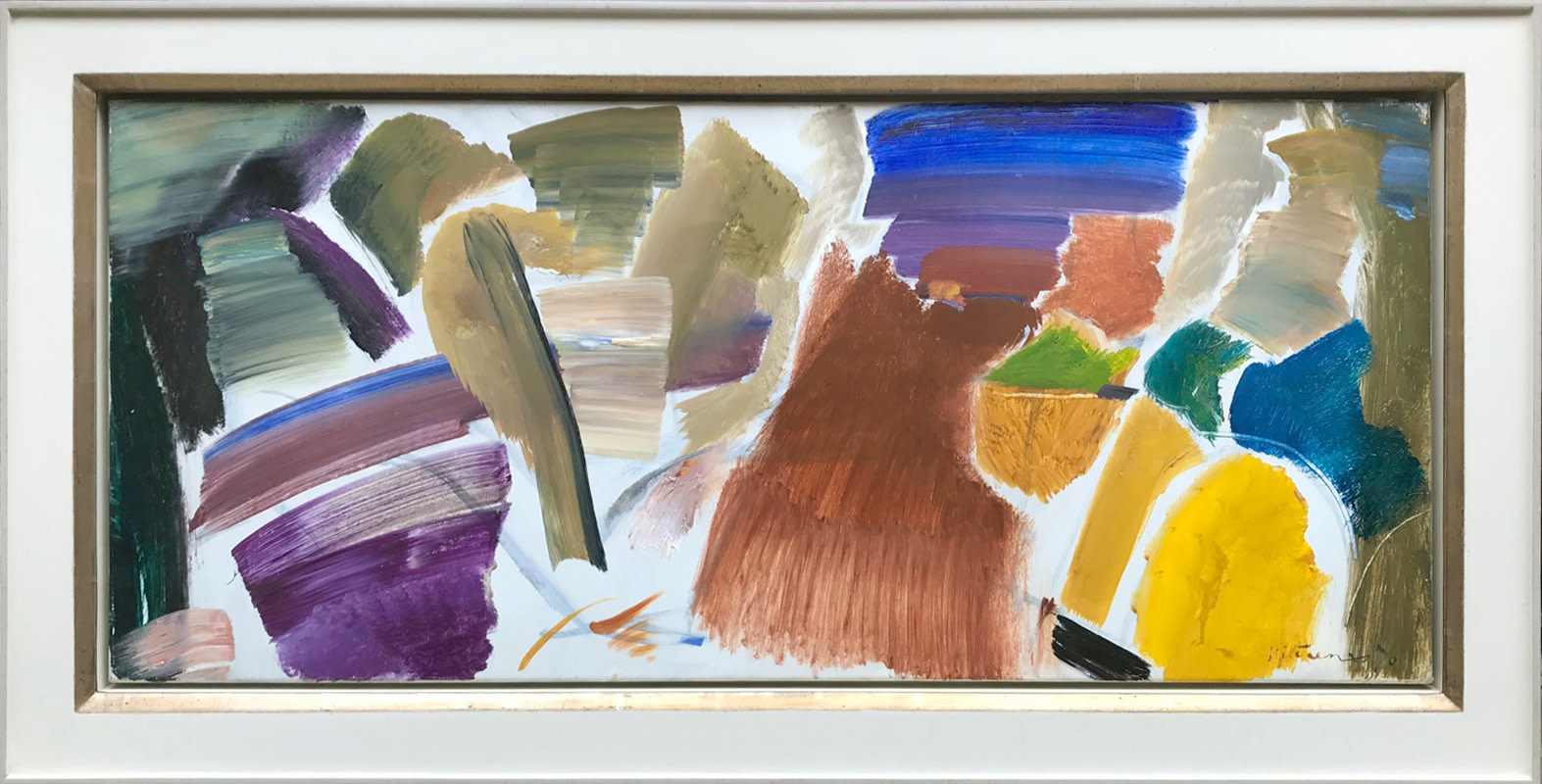 <span class=&#34;link fancybox-details-link&#34;><a href=&#34;/artists/52-ivon-hitchens/works/460/&#34;>View Detail Page</a></span><div class=&#34;artist&#34;><strong>Ivon Hitchens</strong></div> 1893-1979 <div class=&#34;title&#34;><em>Foliage Blue & Yellow</em></div> <div class=&#34;signed_and_dated&#34;>signed and dated 1970<br /> titled verso</div> <div class=&#34;medium&#34;>oil on canvas</div> <div class=&#34;dimensions&#34;>51 x 115.5 cms<br /> framed: 68.5 x 133.5 cms (27 x 52.5 ins)</div>