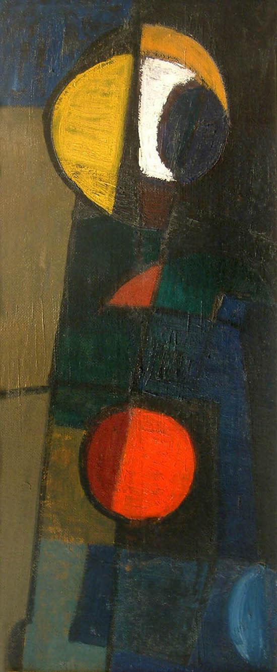 <span class=&#34;link fancybox-details-link&#34;><a href=&#34;/artists/46-terry-frost/works/693/&#34;>View Detail Page</a></span><div class=&#34;artist&#34;><strong>Terry Frost</strong></div> 1915-2003 <div class=&#34;title&#34;><em>Walk Along the Quay</em></div> <div class=&#34;signed_and_dated&#34;>signed and dated 1953 verso</div> <div class=&#34;medium&#34;>oil on board</div> <div class=&#34;dimensions&#34;>71 x 29.5 cms (28 x 11.5 ins)</div>