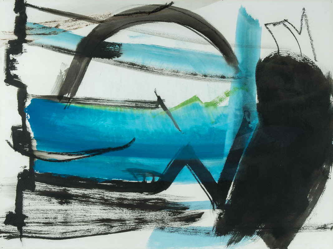 <span class=&#34;link fancybox-details-link&#34;><a href=&#34;/artists/128-peter-lanyon/works/875/&#34;>View Detail Page</a></span><div class=&#34;artist&#34;><strong>Peter Lanyon</strong></div> 1918 - 1964 <div class=&#34;title&#34;><em>Tideway</em></div> <div class=&#34;signed_and_dated&#34;>signed and dated 1964<br /> also titled and dated June 1964 verso</div> <div class=&#34;medium&#34;>gouache</div> <div class=&#34;dimensions&#34;>57 x 75.5 cms (22.5 x 30 ins)<br /> framed: 77.5 x 94.5 cms (30.5 x 37 ins)</div>