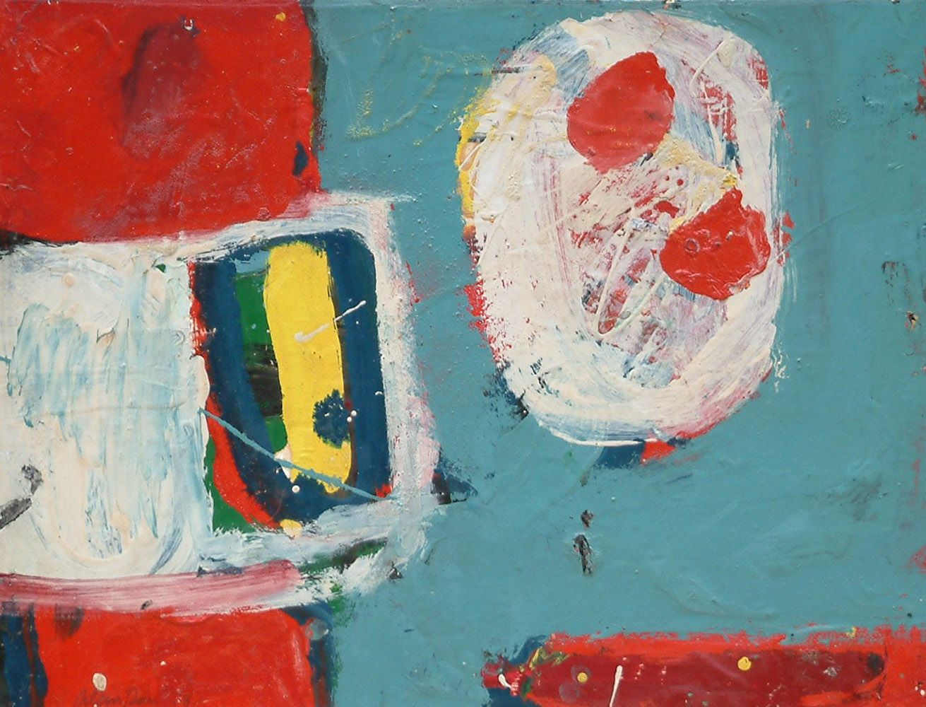<span class=&#34;link fancybox-details-link&#34;><a href=&#34;/artists/38-alan-davie/works/764/&#34;>View Detail Page</a></span><div class=&#34;artist&#34;><strong>Alan Davie</strong></div> 1920-2014 <div class=&#34;title&#34;><em>Eyes in Search of Adventure Opus 238</em></div> <div class=&#34;signed_and_dated&#34;>signed & dated '58</div> <div class=&#34;medium&#34;>oil on paper laid on card</div> <div class=&#34;dimensions&#34;>41 x 53 cms (16 x 21 ins)</div>