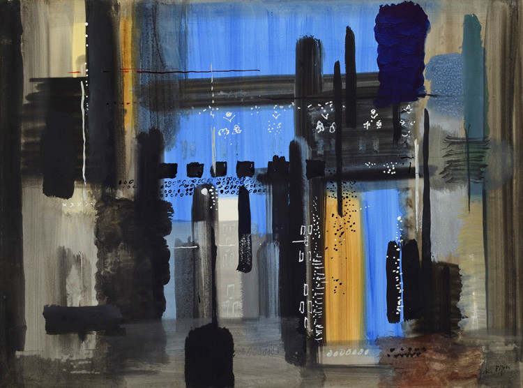 <span class=&#34;link fancybox-details-link&#34;><a href=&#34;/artists/62-john-piper/works/739/&#34;>View Detail Page</a></span><div class=&#34;artist&#34;><strong>John Piper</strong></div> 1903-1992 <div class=&#34;title&#34;><em>Southwold II (The Interior of St Edmund's Church)</em></div> <div class=&#34;signed_and_dated&#34;>signed<br /> titled and dated 1965 label verso</div> <div class=&#34;medium&#34;>gouache</div> <div class=&#34;dimensions&#34;>58 x 79 cms (23 x 31 ins)</div>