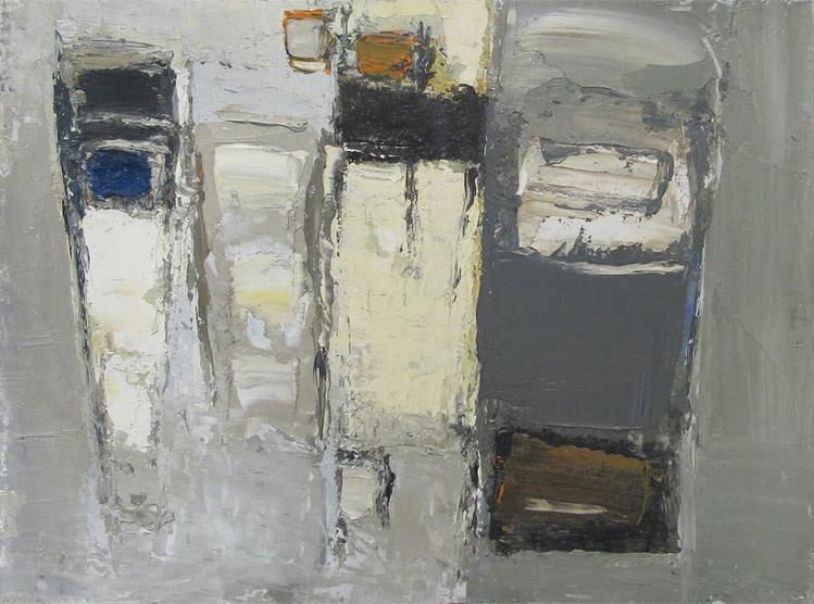 "<span class=""link fancybox-details-link""><a href=""/artists/77-paul-feiler/works/640/"">View Detail Page</a></span><div class=""artist""><strong>Paul Feiler</strong></div> 1918-2013 <div class=""title""><em>Little Grey Rocks</em></div> <div class=""signed_and_dated"">signed, titled and dated 1953 verso</div> <div class=""medium"">oil on board</div> <div class=""dimensions"">23 x 30.5 cms (9 x 12 ins)</div>"