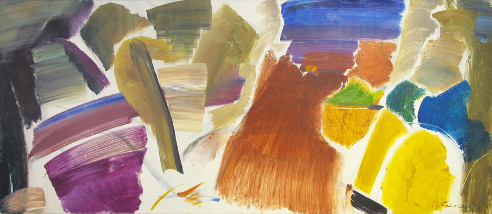 "<span class=""link fancybox-details-link""><a href=""/artists/52-ivon-hitchens/works/460/"">View Detail Page</a></span><div class=""artist""><strong>Ivon Hitchens</strong></div> 1893-1979 <div class=""title""><em>Foliage Blue & Yellow</em></div> <div class=""signed_and_dated"">signed and dated 1970<br /> titled verso</div> <div class=""medium"">oil on canvas</div> <div class=""dimensions"">51 x 115.5 cms (20 x 45½ ins)<br /> framed: 68.5 x 133.5 cms (27 x 52½ ins)</div>"