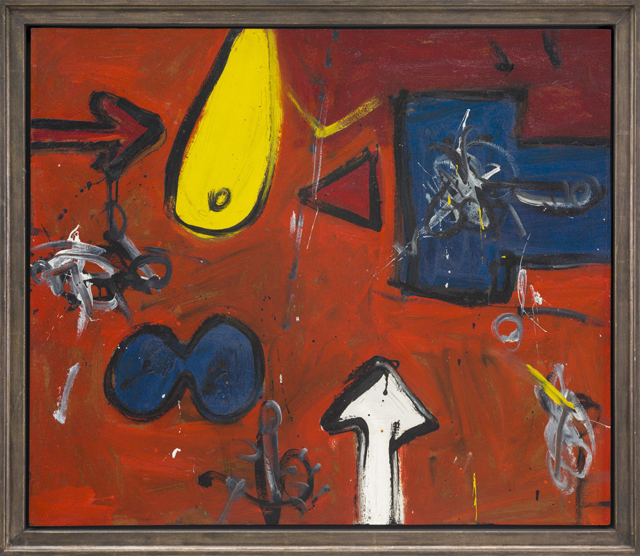<span class=&#34;link fancybox-details-link&#34;><a href=&#34;/artists/38-alan-davie/works/465/&#34;>View Detail Page</a></span><div class=&#34;artist&#34;><strong>Alan Davie</strong></div> 1920-2014 <div class=&#34;title&#34;><em>Study for the Temple, No 1</em></div> <div class=&#34;signed_and_dated&#34;>signed and titled verso<br /> painted 1956</div> <div class=&#34;medium&#34;>oil on board</div> <div class=&#34;dimensions&#34;>96.5 x 112.5 cms (38 x 44 ins)<br /> framed: 110 x 127 cms  (43 x 50 ins) </div>