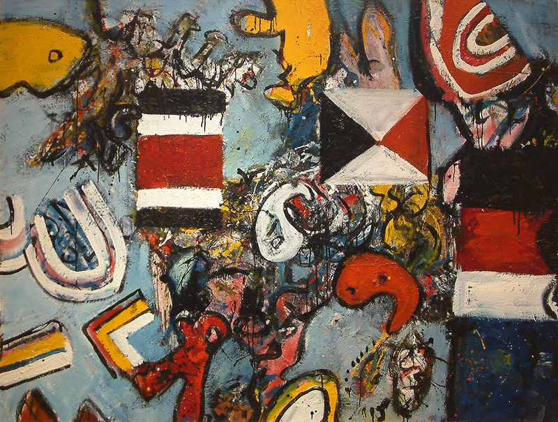 <span class=&#34;link fancybox-details-link&#34;><a href=&#34;/artists/38-alan-davie/works/631/&#34;>View Detail Page</a></span><div class=&#34;artist&#34;><strong>Alan Davie</strong></div> 1920-2014 <div class=&#34;title&#34;><em>Flag Dream No 1</em></div> <div class=&#34;signed_and_dated&#34;>signed, dated June 1957 and inscribed verso<br /> Opus 223</div> <div class=&#34;medium&#34;>oil on board</div> <div class=&#34;dimensions&#34;>152.5 x 198 cms (60 x 78 ins)</div>