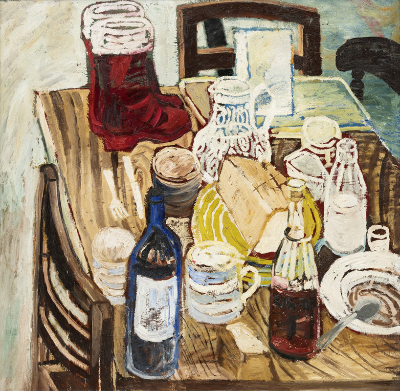"<span class=""link fancybox-details-link""><a href=""/artists/28-john-bratby/works/127/"">View Detail Page</a></span><div class=""artist""><strong>John Bratby</strong></div> 1928- 1992 <div class=""title""><em>Red Boots</em></div> <div class=""medium"">oil on board painted circa 1954</div> <div class=""dimensions"">75 x 76 cms (29½ x 30 ins)<br /> framed: 94 x 96.5 cms (37 x 38 ins)</div>"