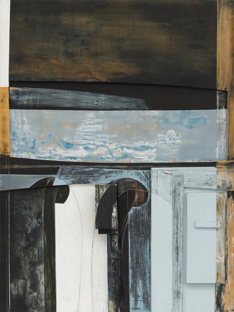 """<span class=""""link fancybox-details-link""""><a href=""""/artists/139-jeremy-gardiner/works/900/"""">View Detail Page</a></span><div class=""""artist""""><strong>Jeremy Gardiner</strong></div> Born 1957 <div class=""""title""""><em>Ballard Point No 13</em></div> <div class=""""signed_and_dated"""">signed, dated 1998 and titled verso</div> <div class=""""medium"""">acrylic and wood attached to birch panel</div> <div class=""""dimensions"""">122 x 91.5 cms (48 x 36 ins)<br /> presented without frame</div>"""