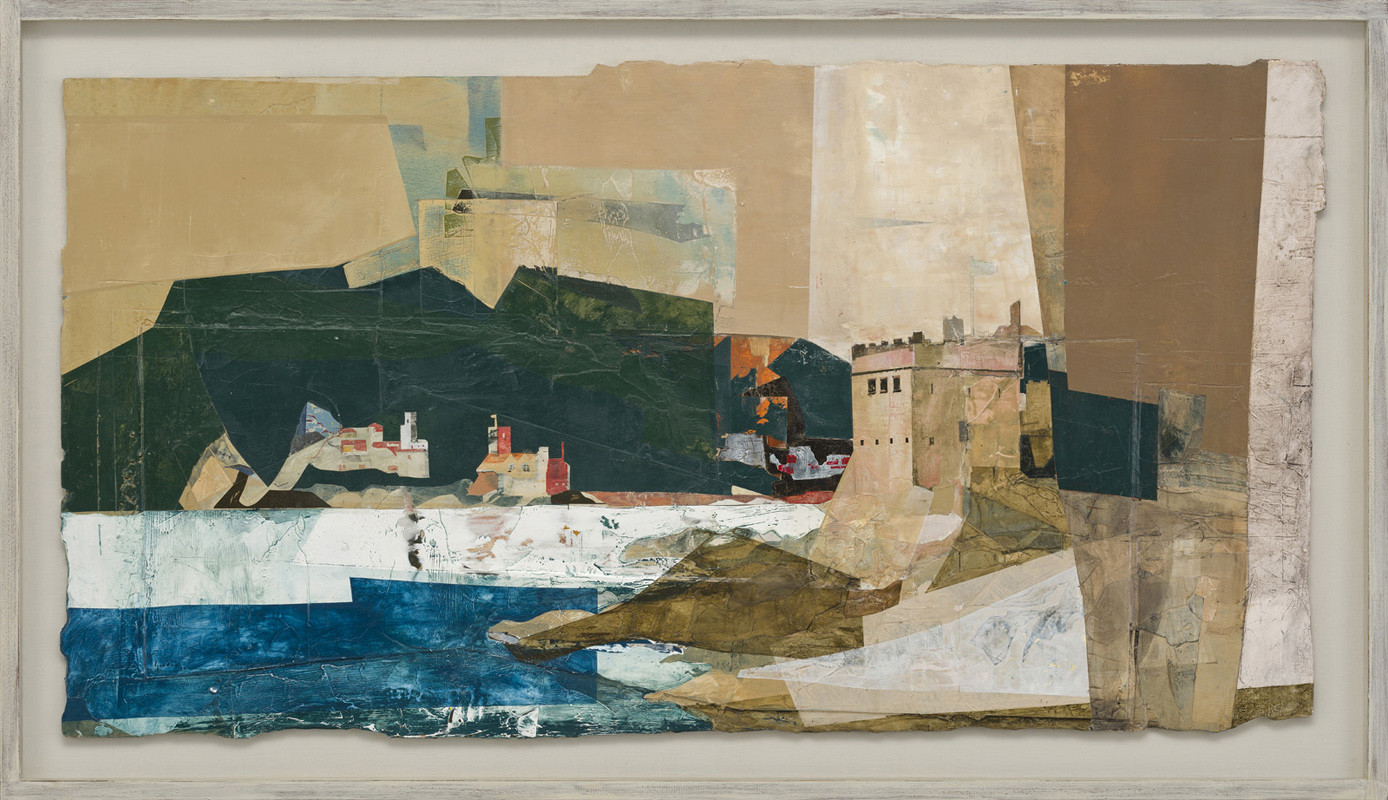 """<span class=""""link fancybox-details-link""""><a href=""""/artists/139-jeremy-gardiner/works/945/"""">View Detail Page</a></span><div class=""""artist""""><strong>Jeremy Gardiner</strong></div> Born 1957 <div class=""""title""""><em>Kingswear Castle and Flagstaff, Devon </em></div> <div class=""""signed_and_dated"""">signed and dated 2018<br /> titled verso</div> <div class=""""medium"""">acrylic and jesmonite on poplar panel</div> <div class=""""dimensions"""">75 x 140 cms (29½ x 55 ins)<br /> framed: 89 x 154 cms (35 x 60½ ins)</div>"""