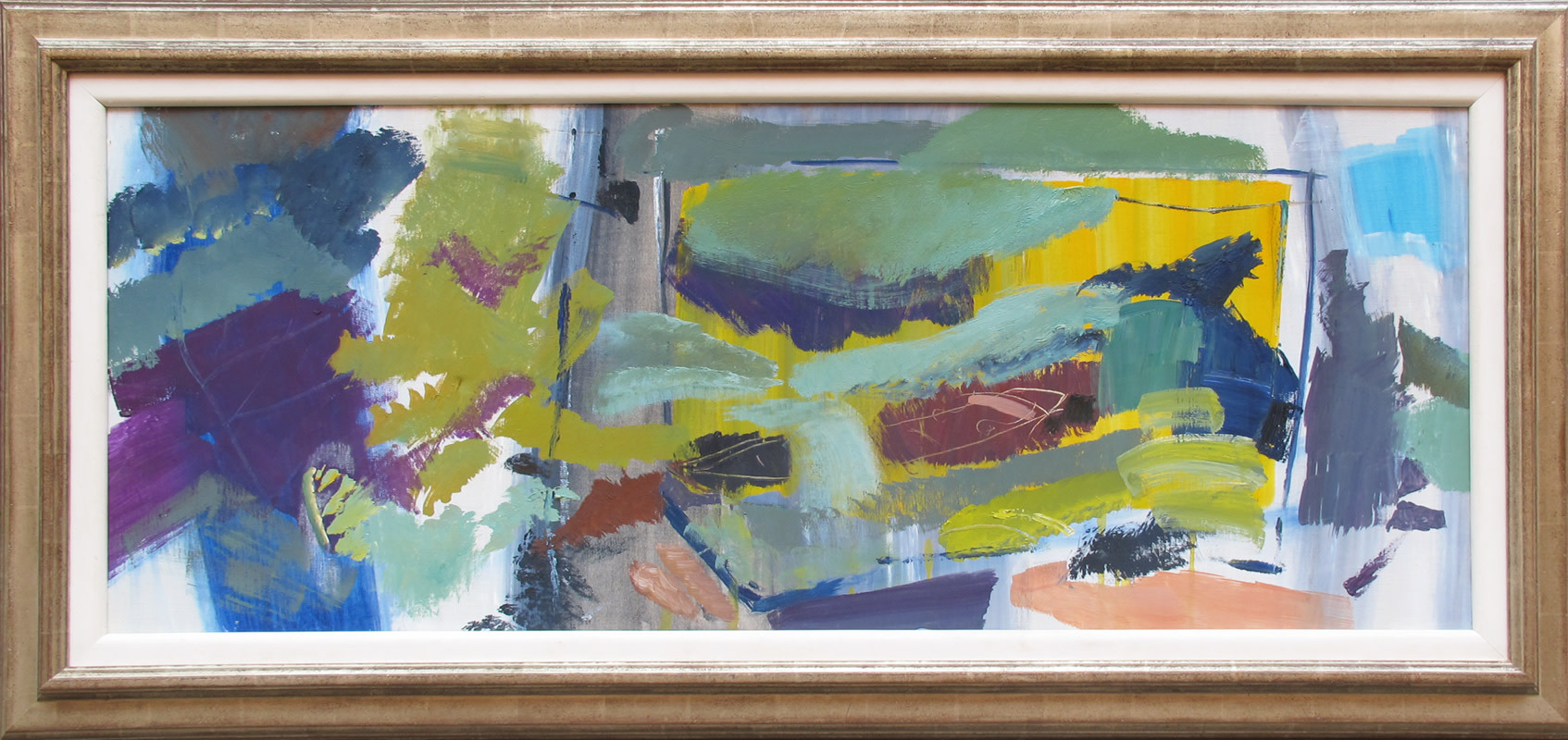 <span class=&#34;link fancybox-details-link&#34;><a href=&#34;/artists/52-ivon-hitchens/works/897/&#34;>View Detail Page</a></span><div class=&#34;artist&#34;><strong>Ivon Hitchens</strong></div> 1893 - 1979 <div class=&#34;title&#34;><em>Brown Boat Amid Green Foliage</em></div> <div class=&#34;signed_and_dated&#34;>signed, titled & dated 1969 label verso<br /> estate stamp verso<br /> </div> <div class=&#34;medium&#34;>oil on canvas</div> <div class=&#34;dimensions&#34;>46 x 117 cms (18 x 46 ins)<br /> framed: 63 x 134 cms (25 x 53 ins)</div>
