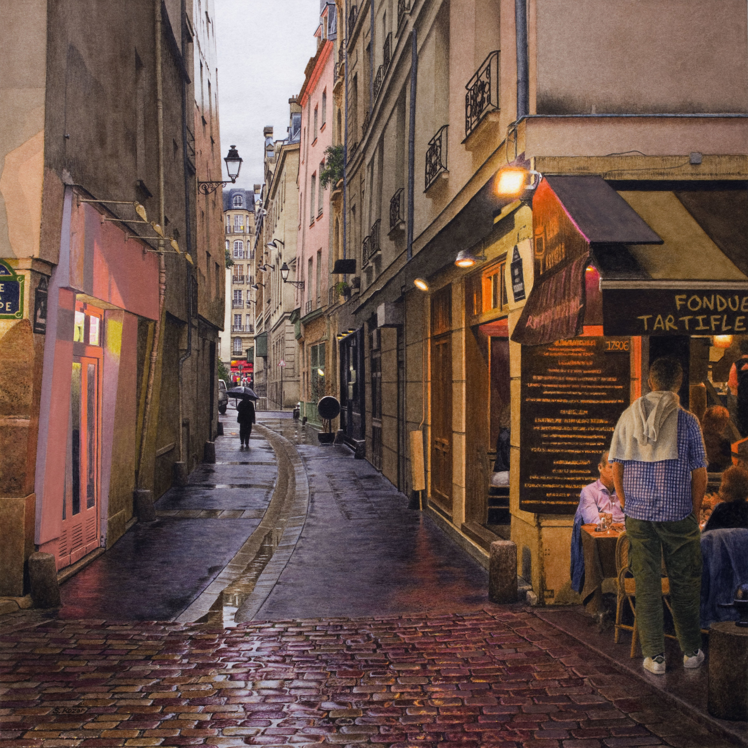 Steven Kozar Rainy Evening in Paris Steven