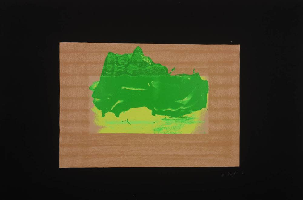<span class=&#34;link fancybox-details-link&#34;><a href=&#34;/artists/163-sir-howard-hodgkin-ch-cbe/works/4062-sir-howard-hodgkin-ch-cbe-indian-view-d-1971/&#34;>View Detail Page</a></span><div class=&#34;artist&#34;><strong>Sir Howard Hodgkin CH CBE</strong></div> 1932-2017 <div class=&#34;title&#34;><em>Indian View D</em>, 1971</div> <div class=&#34;signed_and_dated&#34;>signed and dated in pencil</div> <div class=&#34;medium&#34;>silkscreen print</div> <div class=&#34;dimensions&#34;>57.5 x 78 cm<br /> 22 5/8 x 30 3/4 inches</div> <div class=&#34;edition_details&#34;>Edition 3 of 75</div><div class=&#34;copyright_line&#34;>@ The Estate of Howard Hodgkin</div>