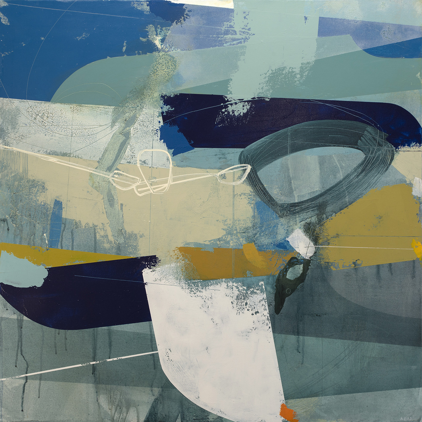 """<span class=""""link fancybox-details-link""""><a href=""""/artists/77-andrew-bird/works/6207-andrew-bird-tethered-2019/"""">View Detail Page</a></span><div class=""""artist""""><strong>Andrew Bird</strong></div> <div class=""""title""""><em>Tethered</em>, 2019</div> <div class=""""signed_and_dated"""">signed, titled and dated on reverse</div> <div class=""""medium"""">acrylic on canvas</div> <div class=""""dimensions"""">h 76 x w 76 cm<br /> 29 7/8 x 29 7/8 in</div><div class=""""price"""">£2,500.00</div><div class=""""copyright_line"""">Own Art: £ 250 x 10 Months, 0% APR</div>"""