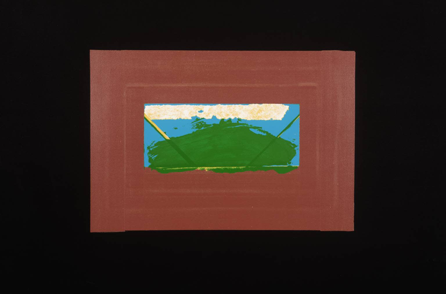 "<span class=""link fancybox-details-link""><a href=""/artists/163-sir-howard-hodgkin-ch-cbe/works/4063-sir-howard-hodgkin-ch-cbe-indian-view-g-1971/"">View Detail Page</a></span><div class=""artist""><strong>Sir Howard Hodgkin CH CBE</strong></div> 1932 – 2017 <div class=""title""><em>Indian View G</em>, 1971</div> <div class=""signed_and_dated"">signed and dated in pencil</div> <div class=""medium"">silkscreen print</div> <div class=""dimensions"">57 x 77 cm</div> <div class=""edition_details"">Edition 5 of 75</div><div class=""copyright_line"">@ The Estate of Howard Hodgkin</div>"