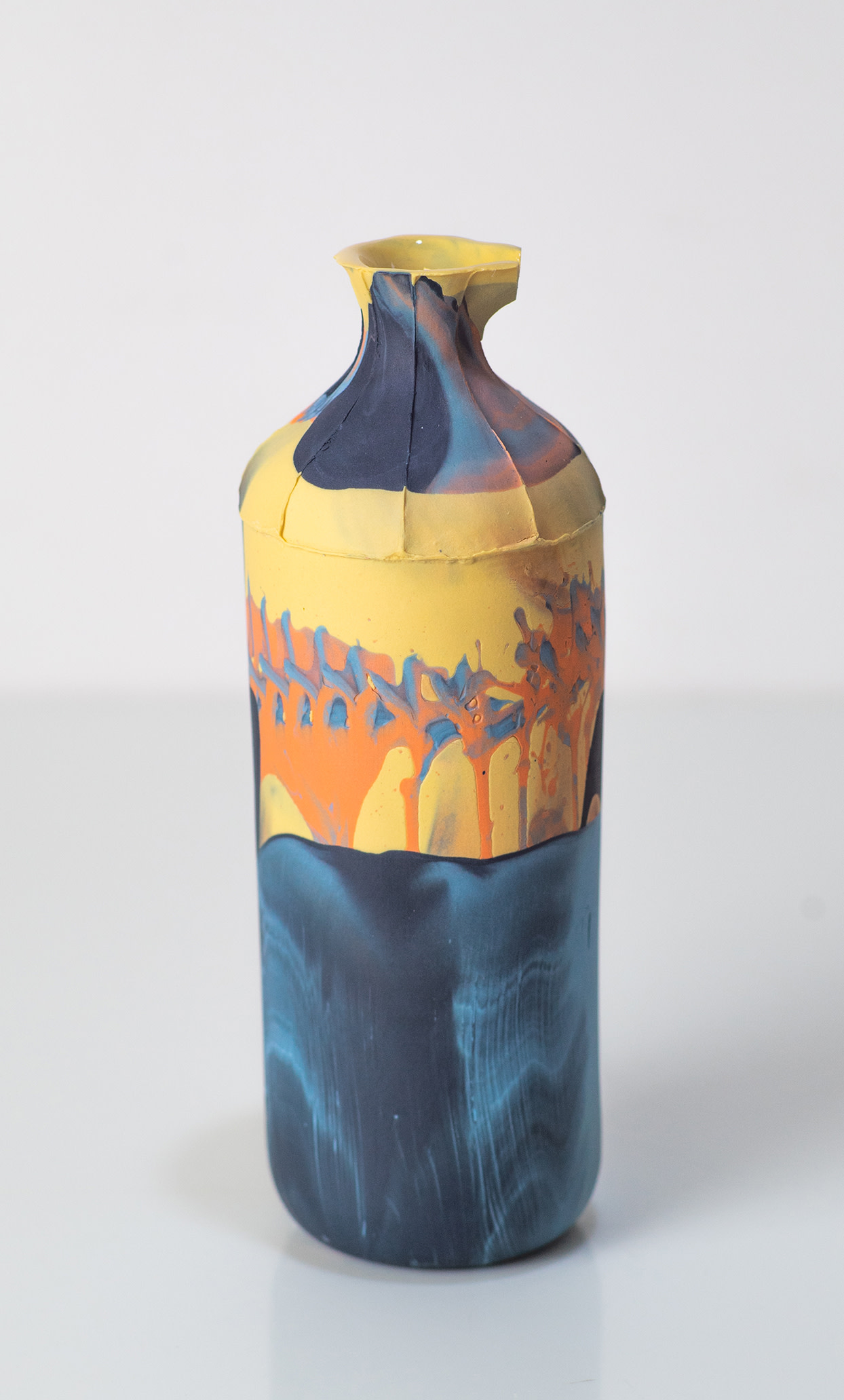 "<span class=""link fancybox-details-link""><a href=""/artists/219-james-pegg/works/6082-james-pegg-tall-bottle-2019/"">View Detail Page</a></span><div class=""artist""><strong>James Pegg</strong></div> <div class=""title""><em>Tall Bottle</em>, 2019</div> <div class=""medium"">action-cast stained porcelain with glazed interior</div> <div class=""dimensions"">h 17cm, dia 6 cm</div><div class=""copyright_line"">OwnArt: £ 12 x 10 Months, 0% APR </div>"
