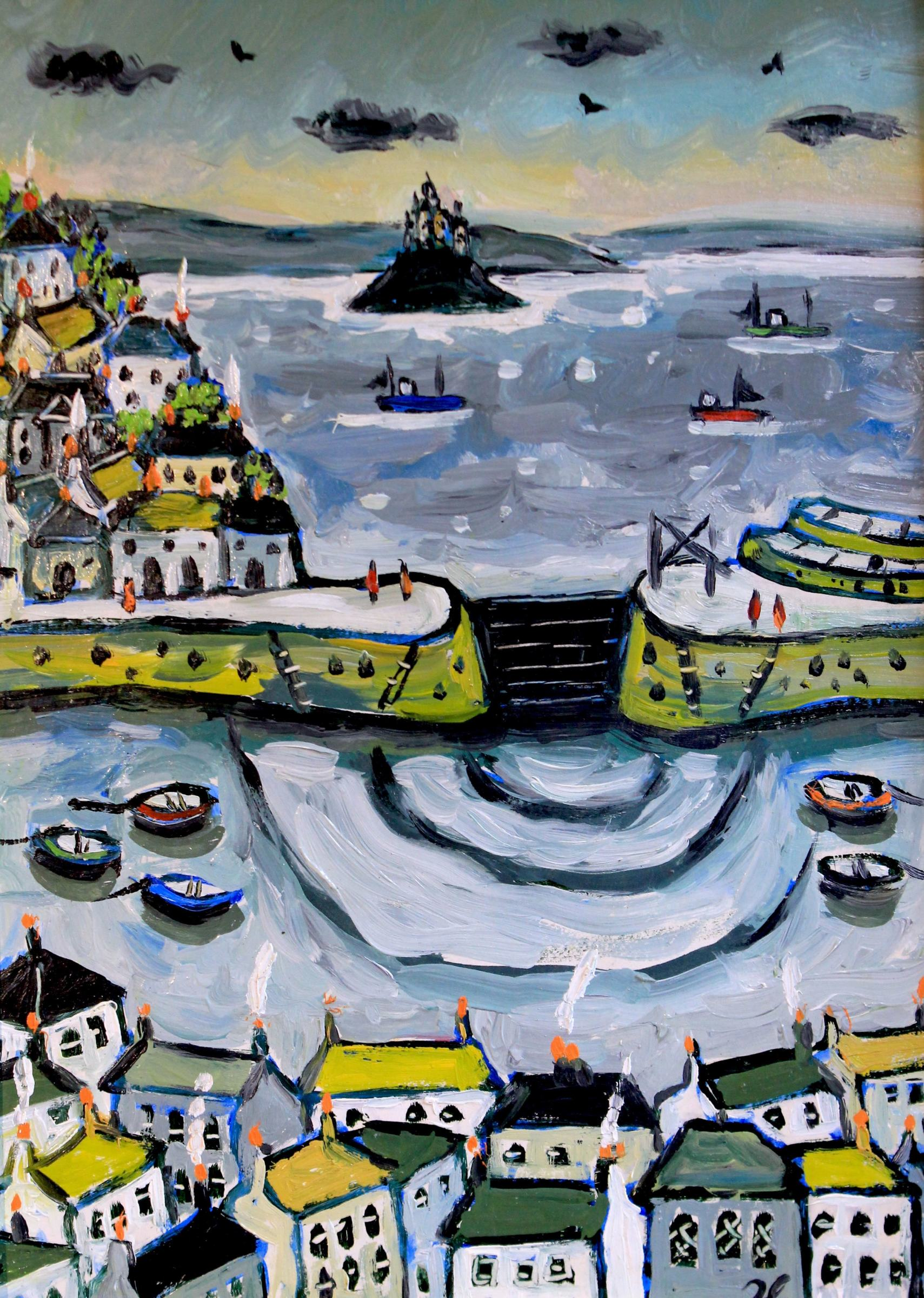 "<span class=""link fancybox-details-link""><a href=""/artists/140-joan-gilchrest/works/5203-joan-gilchrest-mousehole-in-winter/"">View Detail Page</a></span><div class=""artist""><strong>Joan Gilchrest</strong></div> 1918–2008 <div class=""title""><em>Mousehole in Winter</em></div> <div class=""signed_and_dated"">initialled 'JG' lower right</div> <div class=""medium"">oil on card</div> <div class=""dimensions"">18.7 x 14 cm</div><div class=""copyright_line"">© The Estate of Joan Gilchrest</div>"