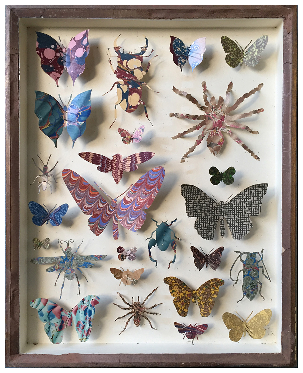 "<span class=""link fancybox-details-link""><a href=""/artists/142-helen-ward/works/6232-helen-ward-entomology-case-6-2019/"">View Detail Page</a></span><div class=""artist""><strong>Helen Ward</strong></div> <div class=""title""><em>Entomology Case 6</em>, 2019</div> <div class=""medium"">Victorian entomology drawer, hand-marbled papers, enamel pins</div> <div class=""dimensions"">39 x 29 cm</div><div class=""price"">£595.00</div><div class=""copyright_line"">Own Art: £ 59.50 x 10 Monthly 0% APR Representative Payments</div>"
