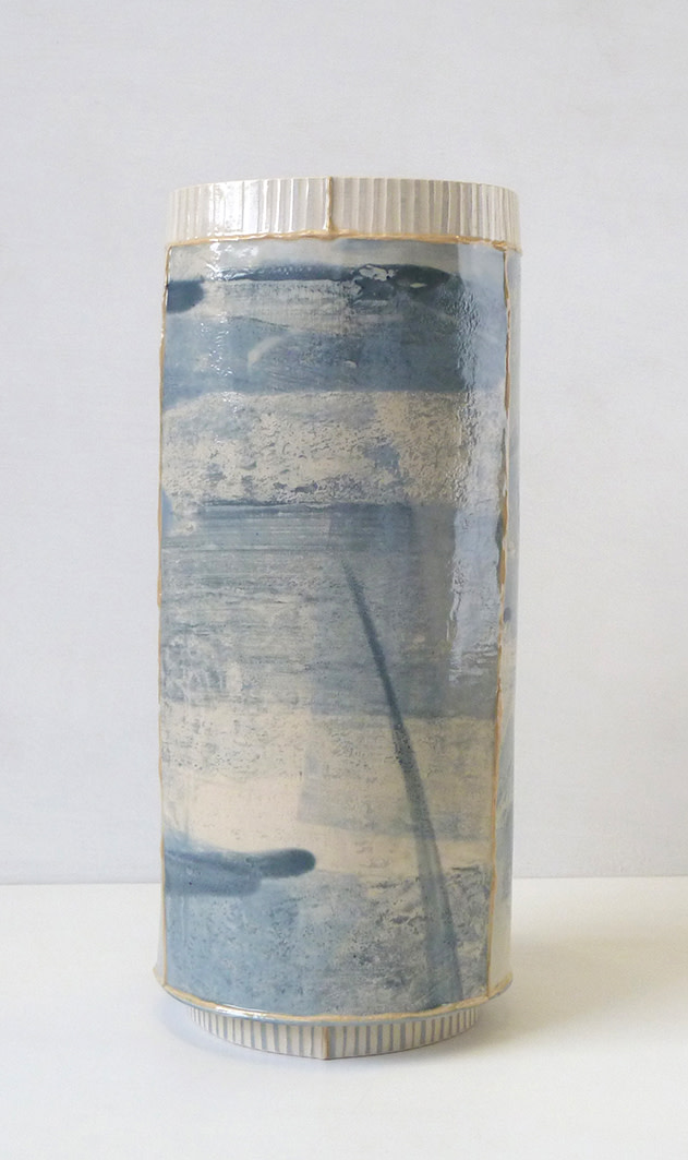 <span class=&#34;link fancybox-details-link&#34;><a href=&#34;/artists/157-emily-kriste-wilcox/works/3949-emily-kriste-wilcox-tall-large-vessel-blue-stripe-2017/&#34;>View Detail Page</a></span><div class=&#34;artist&#34;><strong>Emily-Kriste Wilcox</strong></div> <div class=&#34;title&#34;><em>Tall Large Vessel, Blue Stripe</em>, 2017</div> <div class=&#34;medium&#34;>handbuilt ceramic</div> <div class=&#34;dimensions&#34;>31 x 14 x 14 cm<br /> 12 1/4 x 5 1/2 x 5 1/2 inches</div><div class=&#34;copyright_line&#34;>OwnArt: £ 38.50 x £ 10 Months, 0% APR</div>