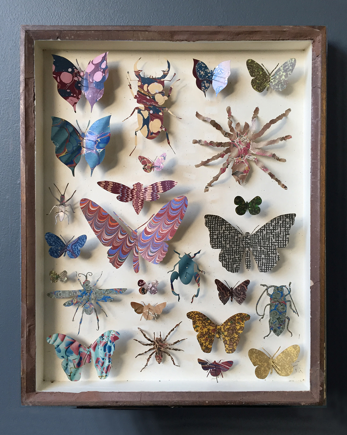 <span class=&#34;link fancybox-details-link&#34;><a href=&#34;/artists/142-helen-ward/works/6232-helen-ward-entomology-case-6-2019/&#34;>View Detail Page</a></span><div class=&#34;artist&#34;><strong>Helen Ward</strong></div> <div class=&#34;title&#34;><em>Entomology Case 6</em>, 2019</div> <div class=&#34;medium&#34;>Victorian entomology drawer, hand-marbled papers, enamel pins</div> <div class=&#34;dimensions&#34;>39 x 29 cm</div><div class=&#34;price&#34;>£595.00</div><div class=&#34;copyright_line&#34;>Own Art: £ 59.50 x 10 Monthly 0% APR Representative Payments</div>