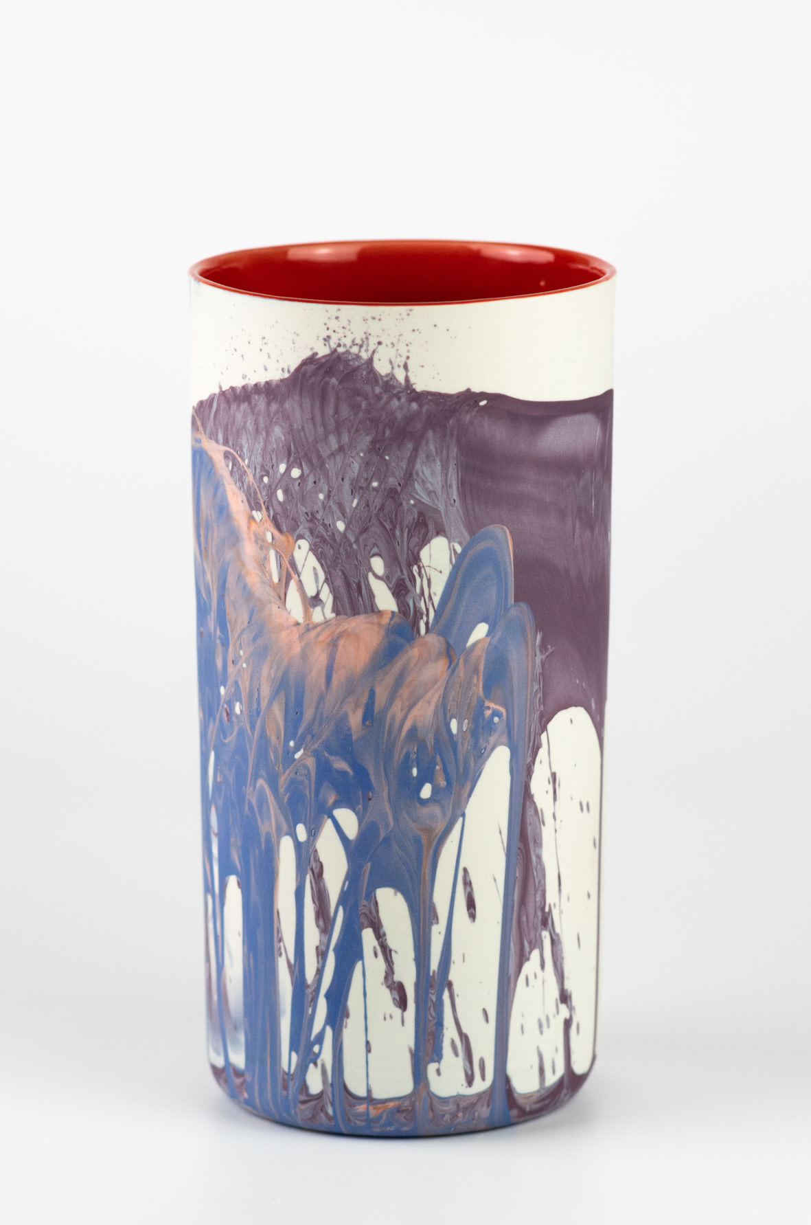 "<span class=""link fancybox-details-link""><a href=""/artists/219-james-pegg/works/6572-james-pegg-fountouki-vase-2019/"">View Detail Page</a></span><div class=""artist""><strong>James Pegg</strong></div> <div class=""title""><em>Fountouki Vase</em>, 2019</div> <div class=""medium"">action-cast stained porcelain with glazed interior</div><div class=""price"">£145.00</div><div class=""copyright_line"">OwnArt: £ 14.50 x 10 months, 0% APR</div>"