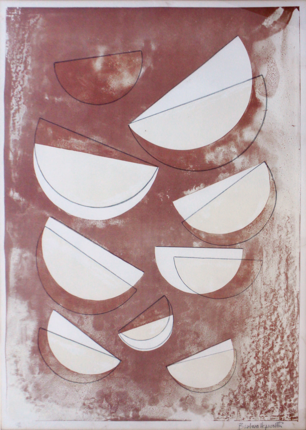 "<span class=""link fancybox-details-link""><a href=""/artists/108-dame-barbara-hepworth-dbe/works/6069-dame-barbara-hepworth-dbe-olympus-from-aegean-suite-1970-1/"">View Detail Page</a></span><div class=""artist""><strong>Dame Barbara Hepworth DBE</strong></div> 1903–1975 <div class=""title""><em>Olympus from Aegean Suite</em>, 1970–1</div> <div class=""signed_and_dated"">signed in pencil, numbered 'x23/30' (presumably <br /> an artist's or printer's proof aside from the general edition of 60)</div> <div class=""medium"">lithograph in colours on wove paper</div> <div class=""dimensions"">image size: 76 x 54 cm</div> <div class=""edition_details"">editioned 'x23/30'</div><div class=""copyright_line"">© The Estate of Barbara Hepworth</div>"