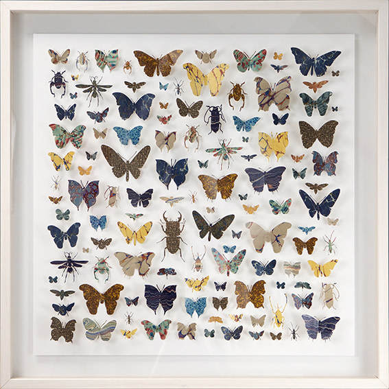 "<span class=""link fancybox-details-link""><a href=""/artists/142-helen-ward/works/3629-helen-ward-lepidoptera-1-2016/"">View Detail Page</a></span><div class=""artist""><strong>Helen Ward</strong></div> <div class=""title""><em>Lepidoptera 1</em>, 2016</div> <div class=""medium"">hand-cut Victorian hand-marbled paper, entomolgy pins</div> <div class=""dimensions"">h 83 x w 83 cm</div><div class=""copyright_line"">Own Art: £175 x 10 Monthly 0% APR Representative Payments</div>"