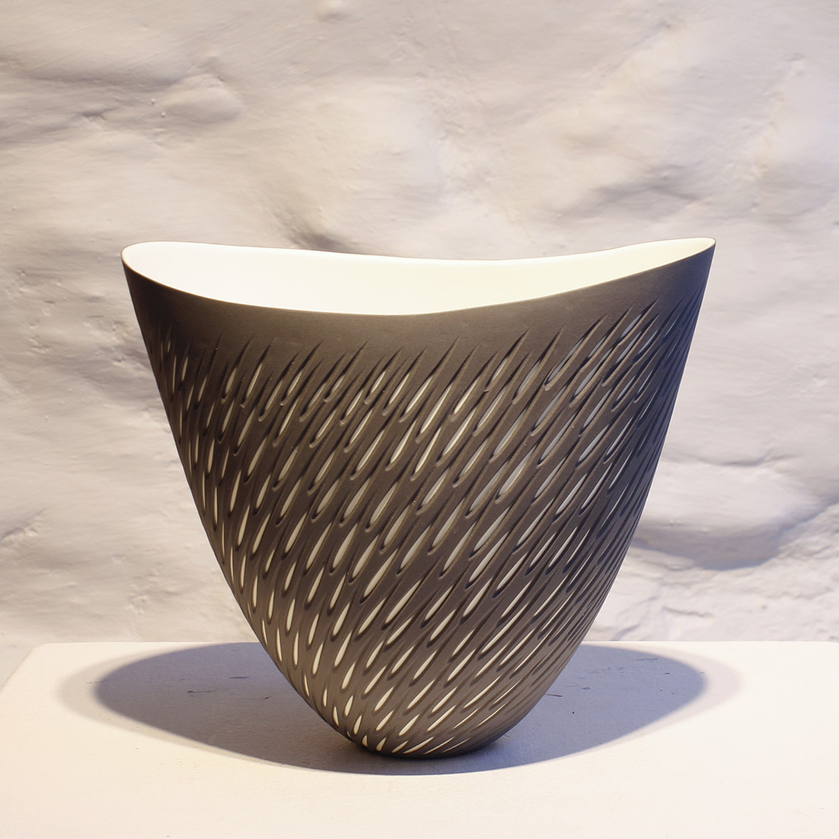 "<span class=""link fancybox-details-link""><a href=""/artists/60-sasha-wardell/works/6016-sasha-wardell-tall-shoal-vase-2018/"">View Detail Page</a></span><div class=""artist""><strong>Sasha Wardell</strong></div> <div class=""title""><em>Tall Shoal Vase</em>, 2018</div> <div class=""medium"">porcelain grey/white</div><div class=""copyright_line"">Copyright The Artist</div>"